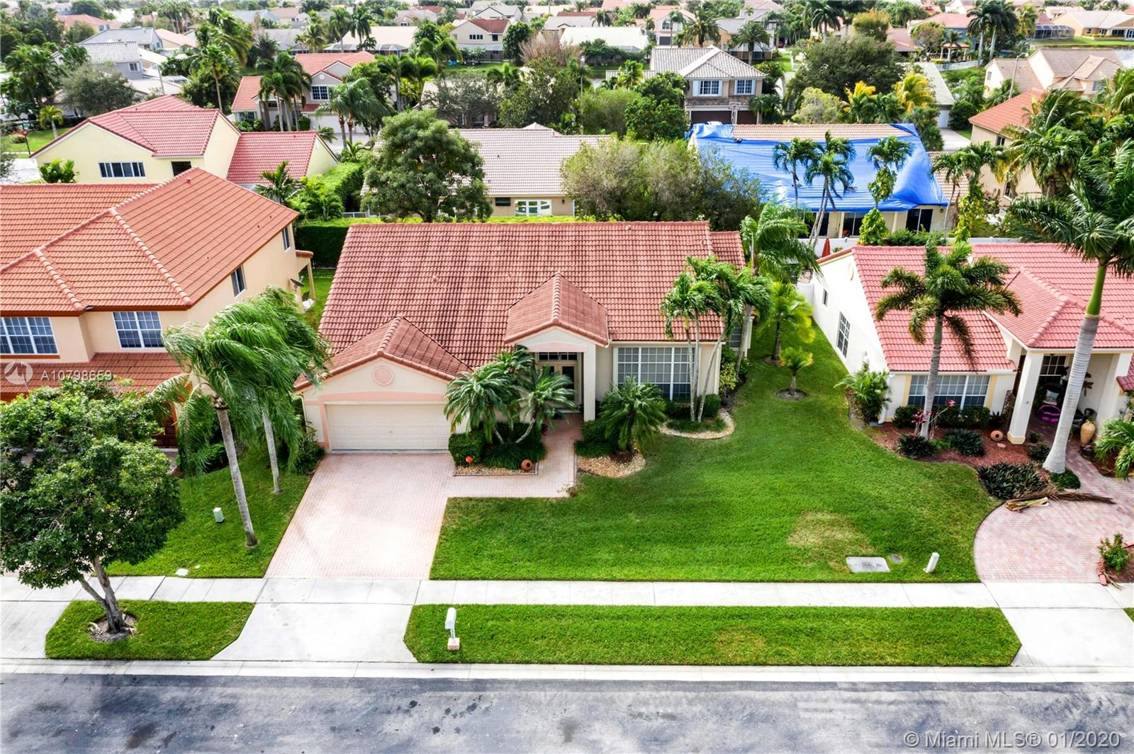 Spectacular one-story home in the prestigious gated community of Chapel Trail Estates. Very well-maintained home, 4bd | 2.5 ba | 2655 SFT | 2-car garage. This home features double door entry, High volume ceilings, kitchen center island overlooks spacious family room, tiled flooring in living areas, wood flooring in all bedrooms, oversized master bedroom w/ huge walk-in closet, separate laundry room w/tub, accordion shutters, extended driveway which accommodates 4 vehicles, security alarm, low HOA dues, gated community, near Chapel Trail Park Nature Preserve & Pembroke Pines Parks the gated subdivision is located directly across Taft St. from Chapel Trail Elementary, A-rated School district, near shopping centers, churches, and restaurants, Minutes from MIA & FTL.