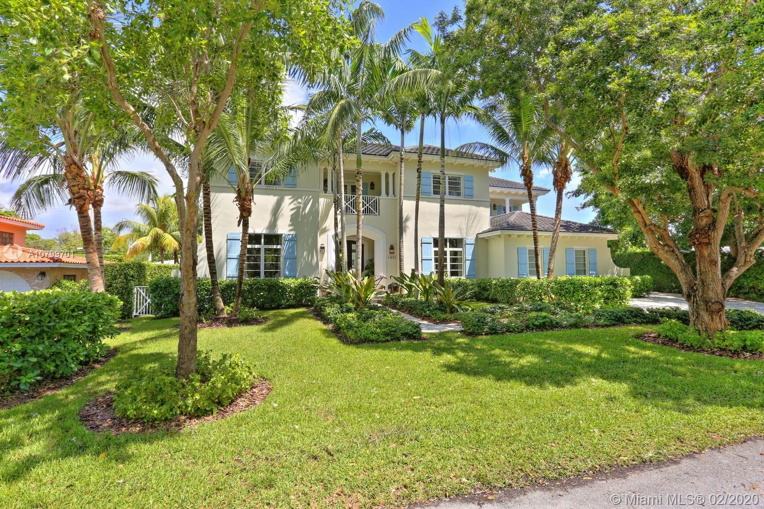 Beautiful Island Style home in Gables by the Sea on a quiet cul-de-sac. Gated community. Approximately 6100 sq ft of total area and approximately 5000 sq. ft adjusted. Built in 2007-2008 and only lived in by one owner. Three houses down from park. 5 bedrooms and 5.5 baths and 2 car garage. Incredible kitchen with high end finishes, island and Thermador appliances. Outside BBQ and pool. High ceilings and every bedroom on second floor has its own balcony. All bedrooms have their own bathroom. Stunning features. Rented.