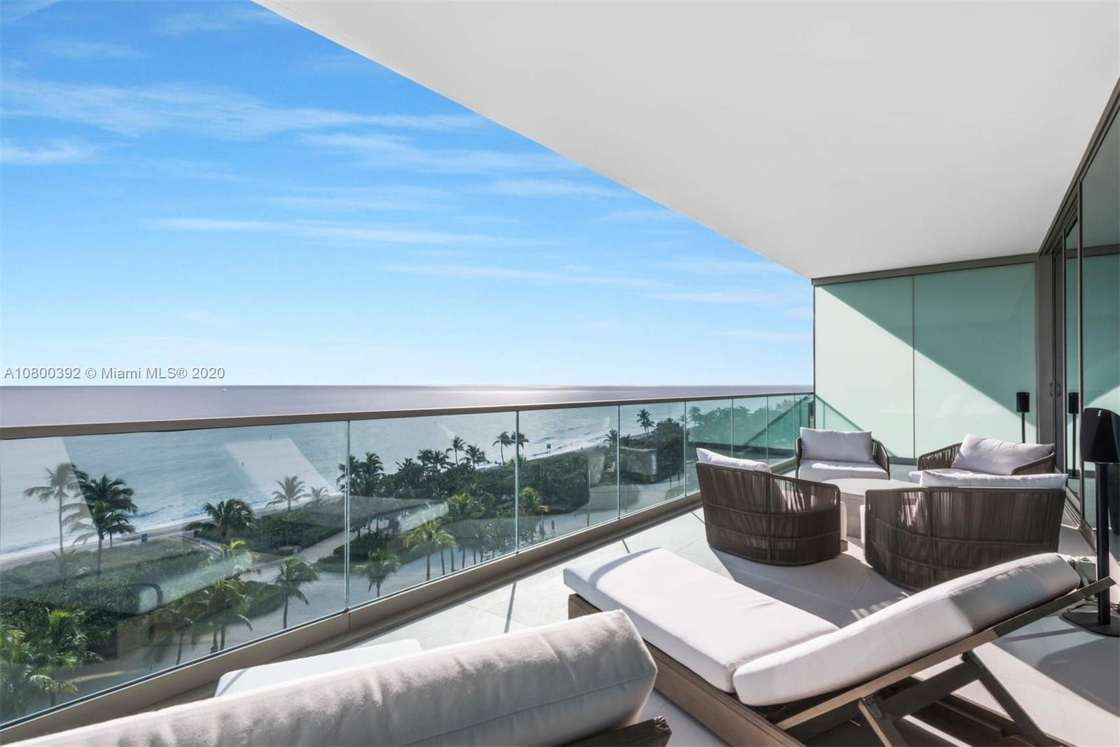 Spectacular Ocean Front unit with endless ocean views. Come see this ultra high-end unit in the newest building in Bal Harbour. Oceana has everything to offer! Full amenities from spa, two pools, two tennis courts, on site high end restaurant, top of the line fitness center and exclusive cabanas. This 1 bedroom with converted Den to a second bedroom, 2 full Italian Marble lined bathrooms with soak-in tub in the master. Full chefs kitchen and a huge balcony for relaxing in front of the ocean. This unit is offered fully furnished and turnkey.