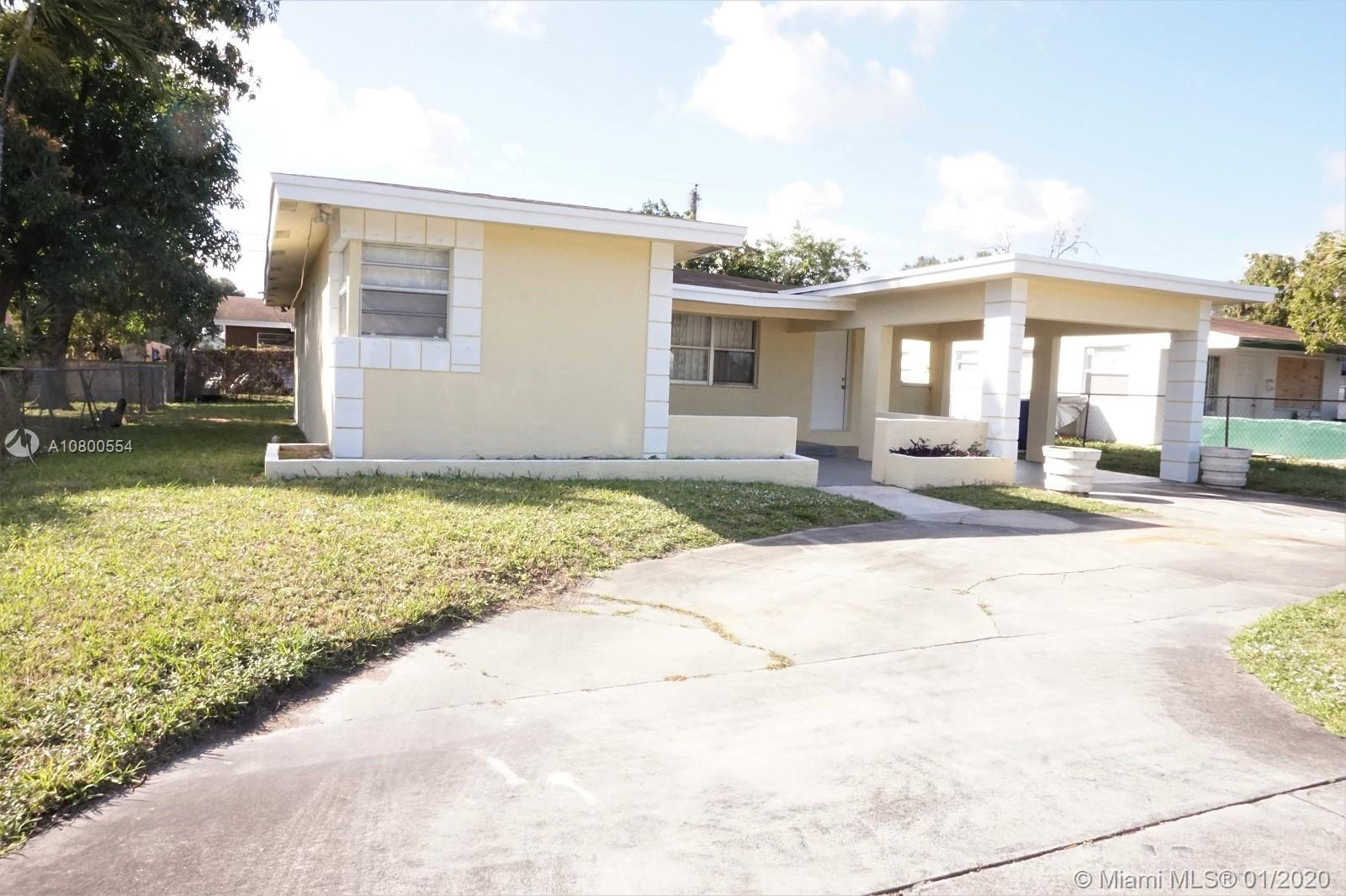 BEAUTIFULLY UPGRADED 3 BED 2BATH AND AN ADDITIONAL ROOM SINGLE FAMILY HOUSE IN ROOSEVELT GARDENS , FORT LAUDERDALE. UPGRADED KITCHEN WITH NATURAL WOOD CABINETS AND GRANITE COUNTER TOP. THE PROPERTY COMES WITH NEWER SS APPLIANCES. WATER RESISTANT LAMINATE ALL THROUGH THE LIVING AREA. CLOSE TO EVERYTHING.