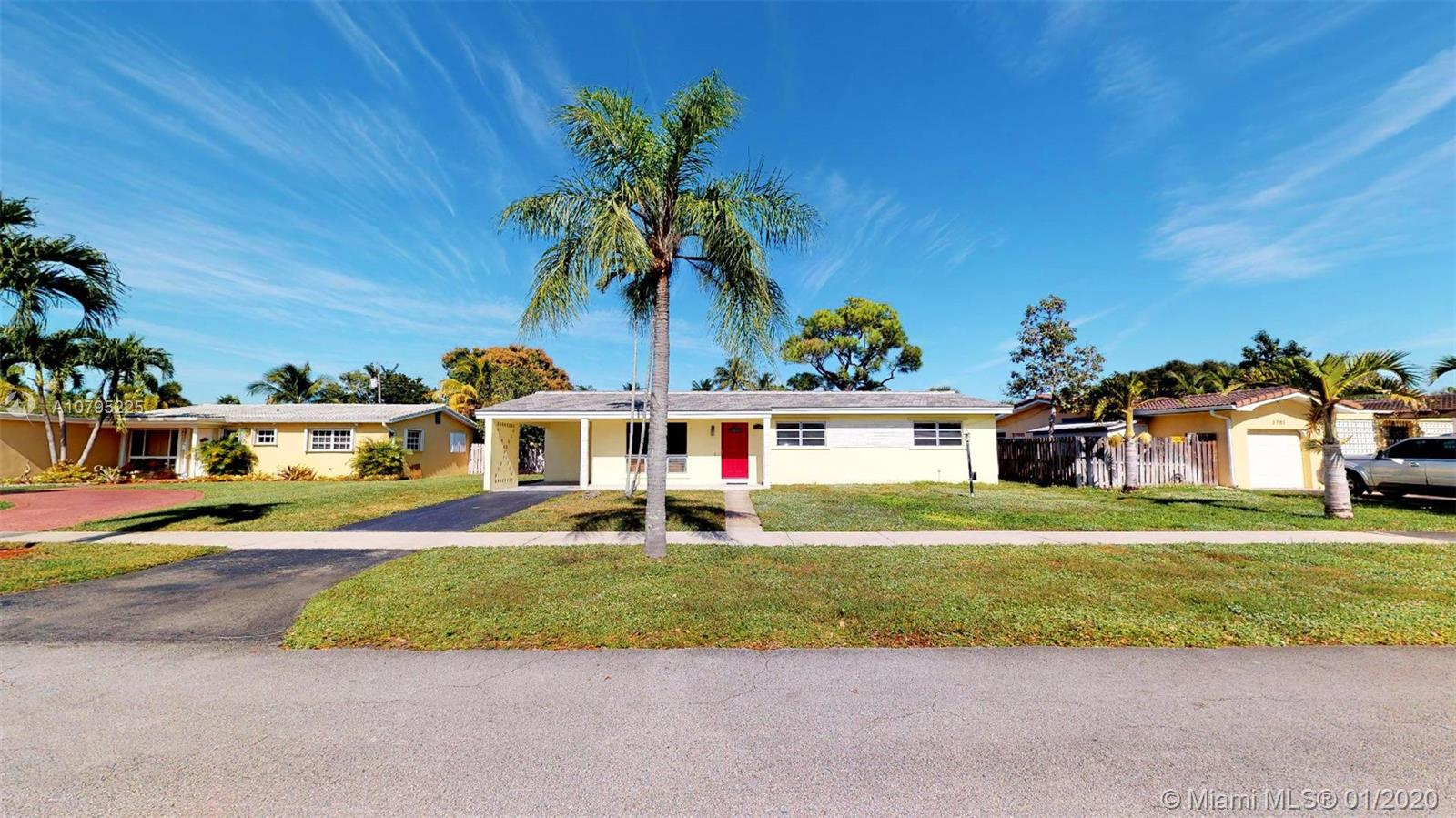 3709  Mckinley St  For Sale A10795225, FL