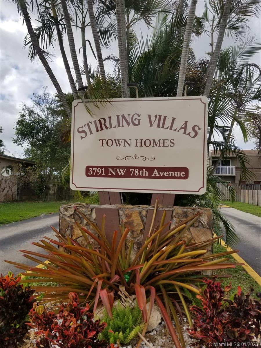 3791 NW 78th Ave #27 For Sale A10801401, FL