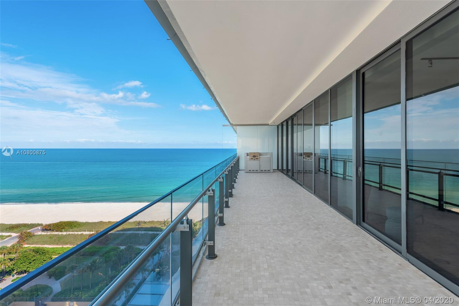Eighty Seven Park by Priztker award-winning architect Renzo Piano is a selection of oceanfront residences designed to seamlessly embrace park and ocean in Miami Beach's most coveted seaside neighborhood. The building sits between a 35-acre ocean front park to the south and private 2-acre park to the north that are designed by West 8 landscape architects. Enjoy views of the ocean, park and city skyline. Full service building with concierge, 2 pools, full service spa, ocean view gym, and wine bar.