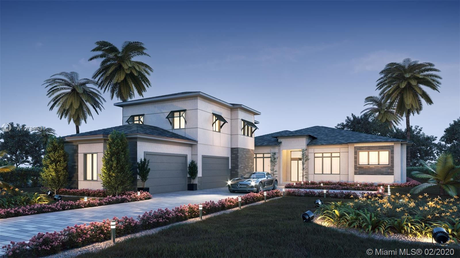 NEW CONSTRUCTION in the prestigious community of Plantation Acres. This home is situated on an acre of land for total privacy. The luxurious details are consistent from the inside out. Transitional modern architecture outside and modern finishes inside. The front doors open to an expansive great room overlooking a custom pool and impressive backyard experience complete with a summer kitchen. Volume ceilings with decorative lighting create a elegant setting in every room including hallways. The oversized garage fits larger trucks & SUV's with room for storage. All of the finishes and designs are the top of the line. NEW CONSTRUCTION! BROOKMAN-FELS! NEW CONSTRUCTION!