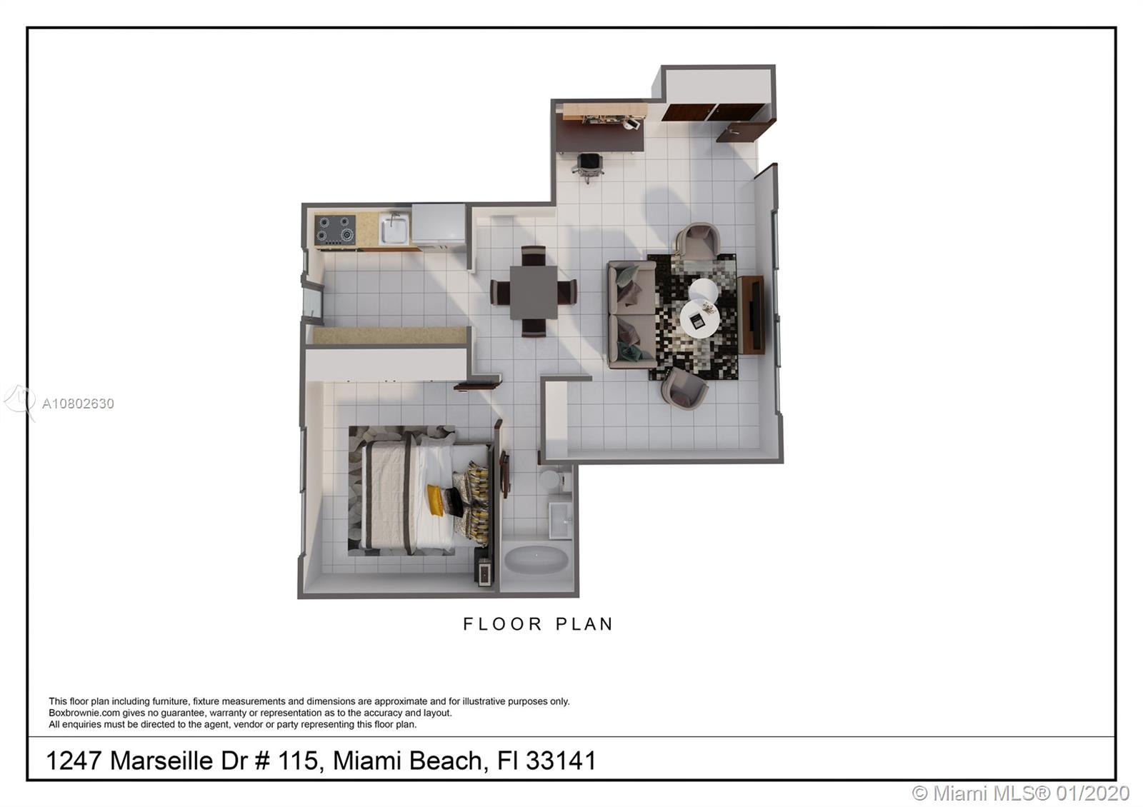 1247  Marseille Dr #115 For Sale A10802630, FL