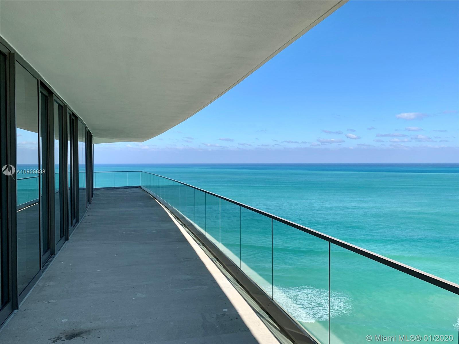 5% COMMISSION FOR BUYER'S AGENT. Armani Casa is the newest, most elegant and beautiful building on the beach of the Florida Riviera, in Sunny Isles Beach. This unit is the biggest corner line of the building with unobstructed ocean, intracoastal and city views. 4 Bed + Staff Room, 5 1/2 Bath, with a huge Balcony and an outdoor summer kitchen. Luxury Kitchen and Bathrooms designed by Armani Casa. Kitchen comes with Sub-Zero and Wolf Appliances with stone counter tops, Washer & Dryer, 2 Elevators opening to your Private Foyer. This unit is a dream come true, a must see. Building has a 24 hour Attended Lobby, Security, Concierge and Valet Parking. Beach Club, Pool, SPA, GYM, Wine, Cigar, Kids and Game Rooms, Library, Social Room, Pet Friendly and much more. EASY TO SHOW.