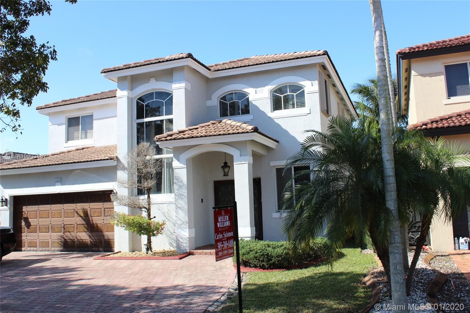 5504 SW 164th Ct  For Sale A10803867, FL
