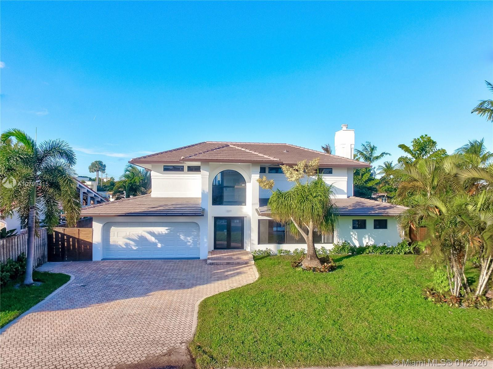 """COMPLETE REMODEL. THIS STUNNING 4 BEDROOM 3 BATH WATERFRONT HOUSE FEATURES: NEW ROOF, NEW HIGH IMPACT WINDOWS AND DOORS, NEW INTEGRATED KITCHEN WITH GRANITE COUNTER TOPS, NEW BATHROOMS, NEW AC, ALL NEW APPLIANCES, NEW TILE FLOORS. OCEAN ACCESS WATERFRONT (1 FIX BRIDGE 10"""")COME SEE THIS BREATHTAKING, MODERN AND EXCLUSIVE HOUSE IN THE GATED BAL HARBOR NEIGHBORHOOD.MOVE IN READY."""