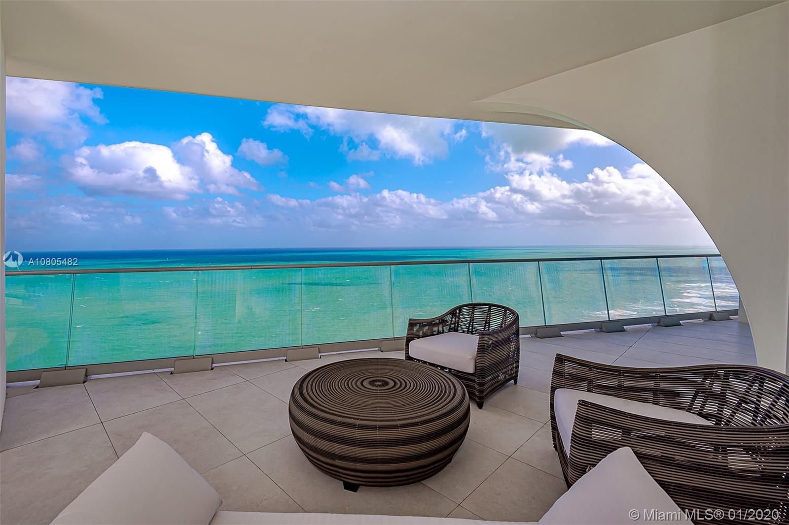 BREATHTAKING VIEW FROM THIS UNIQUE NORTH CORNER UNIT – DIRECT OCEAN AND INTRACOASTAL VIEWS – TURN KEY HOME PROFESSIONAL DECORATED – CUSTOM MADE CLOSETS - OVER 3400SF INTERIOR PLUS TERRACES 4 BEDROOMS – MAID'S QUARTER – UPSCALE FURNITURE – GAGGANEAU AND SUBZERO APPLIANCES -  PRIVATE ELEVATOR – GYM – SPA – WINE BAR – YOGA CLASSES – TEEN LOUNGE – CONCIERGE SERVICE BUILDING DESIGNED BY FAMOUS ARCHITECT HERZOG & DE MEURON.