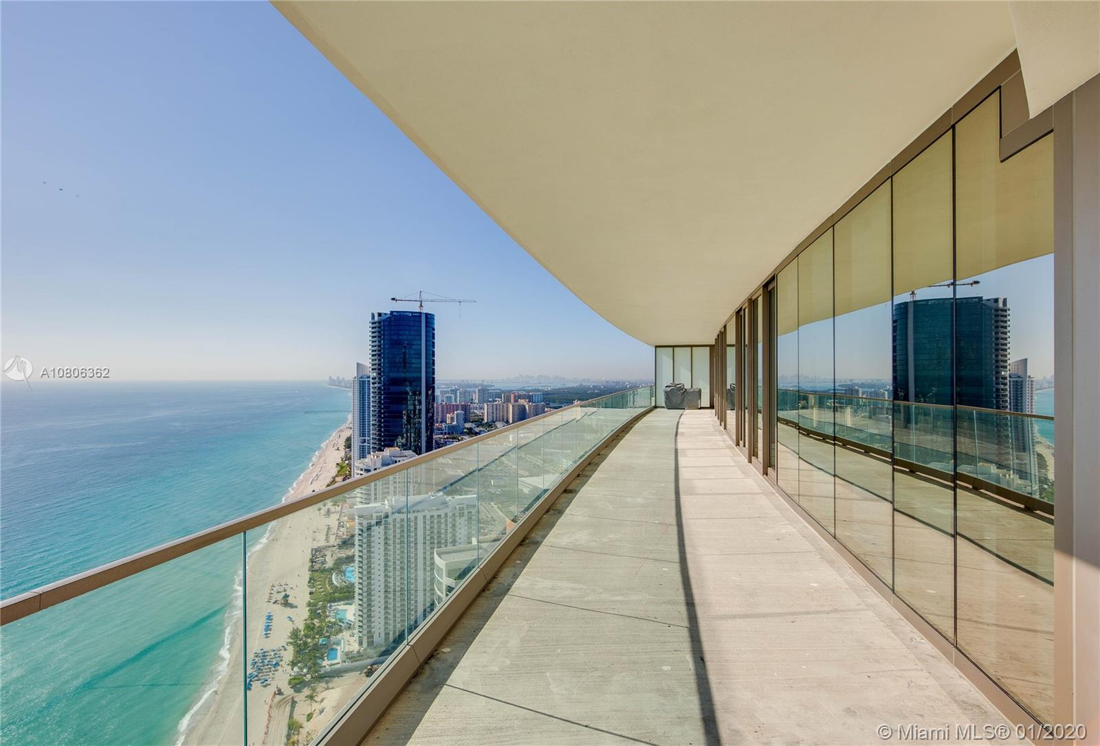 World renowned Giorgio Armani and Architect Cesar Pelli collaborate to design one of the most coveted towers in Sunny Isles Beach. This extraordinary condo features 4 bedrooms + den, 5.5 bathrooms, intelligent climate controls with digital thermostats, motorized drapes, programmed lighting controls, floor to ceiling windows, and 2 large open glass-edge balconies with summer kitchen. The top of the line kitchen has Wolf appliances, natural stone countertops, Sub-Zero refrigerator and wine cooler. Enjoy Armani Casa world class amenities including: 24/7 Concierge Services, Spa, Fitness Center, Swimming Pool with Sundeck, Children's Playground Theatre, Beachside Service, Cigar and Wine Rooms, Oceanfront Restaurant & Bar. 4050 sqft. As per Owner