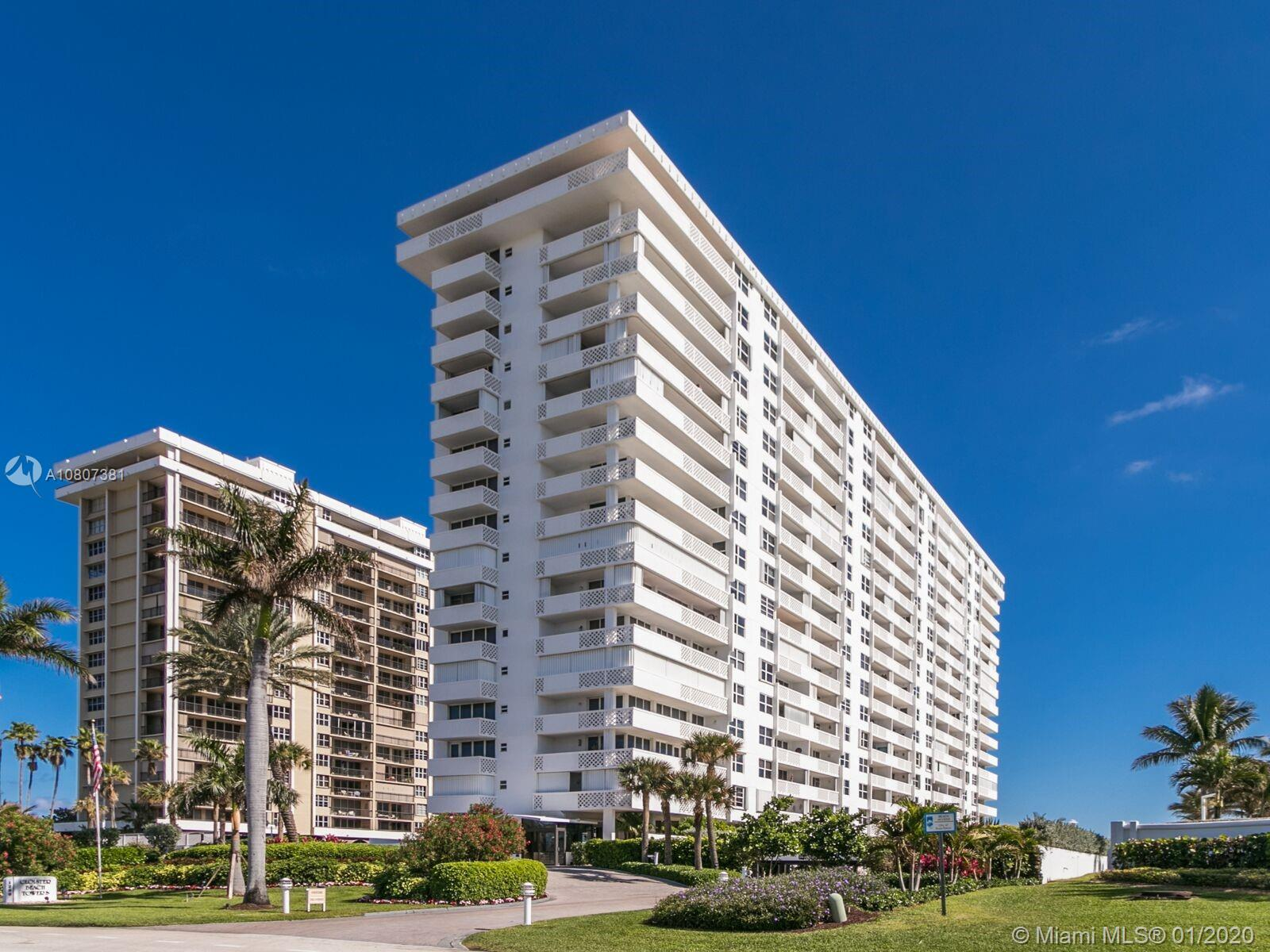 1200 S Ocean Blvd #12E For Sale A10807381, FL