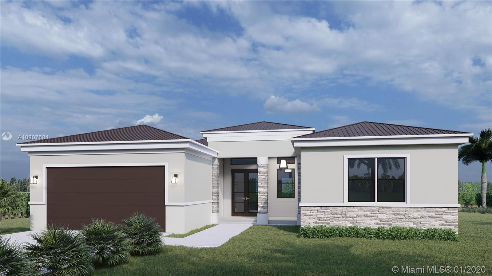 ONE PRE-CONSTRUCTION HOME REMAINING ON A 1/2 ACRE LOT.  CONSTRUCTION TO BEGIN IN APRIL 2020.  THIS HOME WILL HAVE 4 BEDROOMS, 3 BATHS, AND A 2 CAR GARAGE.   OPEN FLOOR PLAN WITH A HUGE COVERED TERRACE PERFECT FOR ENTERTAINING.  FEATURES WILL INCLUDE METAL ROOF. HURRICANE RESISTANT IMPACT GLASS WINDOWS, PORCELAIN TILE LIVING AREA, QUARTZ COUNTERS IN THE KITCHEN, SMART TECHNOLOGY PACKAGES AND MORE.  FOR A LIMITED TIME THE BUILDER IS OFFERING UP TO $7,500 SELLER CONTRIBUTION TOWARDS CLOSING COSTS IF USING PREFERRED TITLE COMPANY AND LENDER.  THERE IS STILL TIME TO SELECT YOUR OWN FINISHES.  CALL NOW FOR MORE INFO