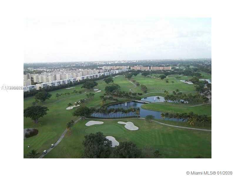 Large 1481 sf on 21 st Floor corner , beautiful wraparound balcony with free views of the golf and city , in the heart of Hallandale, five minutes from Ocean, great updated 3 bedrooms 2 bath, split floor plan, porcelain flooring including on the balcony, open concept kitchen , laundry room inside the unit, stainless steel appliances , Master Bedroom has its own separate bath tub and shower along with 2 sink, building has heated pool, gym, sauna, conference room, security. Unit is vacant. Great location. Owner motivated