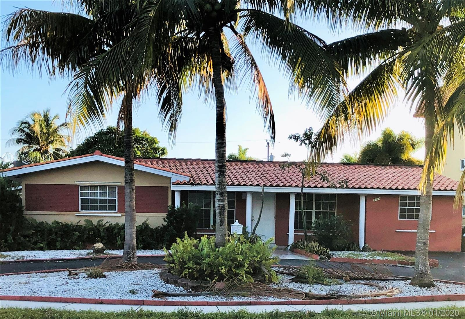 Spacious family home in the heart of Coral Ridge Isles. This beautiful home features a large open living space that is filled with natural light, wonderful kitchen with granite countertops and wood cabinets, and ceramicfloors throughout. This home boasts 2 masters bedrooms; bedroom on the right side has a separate entrance, and other bed and bath. Enjoy the large terrace that opens to an ample backyard with a variety of fruit trees and that is fenced for privacy.  Circular driveway provides ample parking for family and guests. This home is situated in a great family oriented neighborhood that is close to I95, the beaches, shopping, restaurants and more!