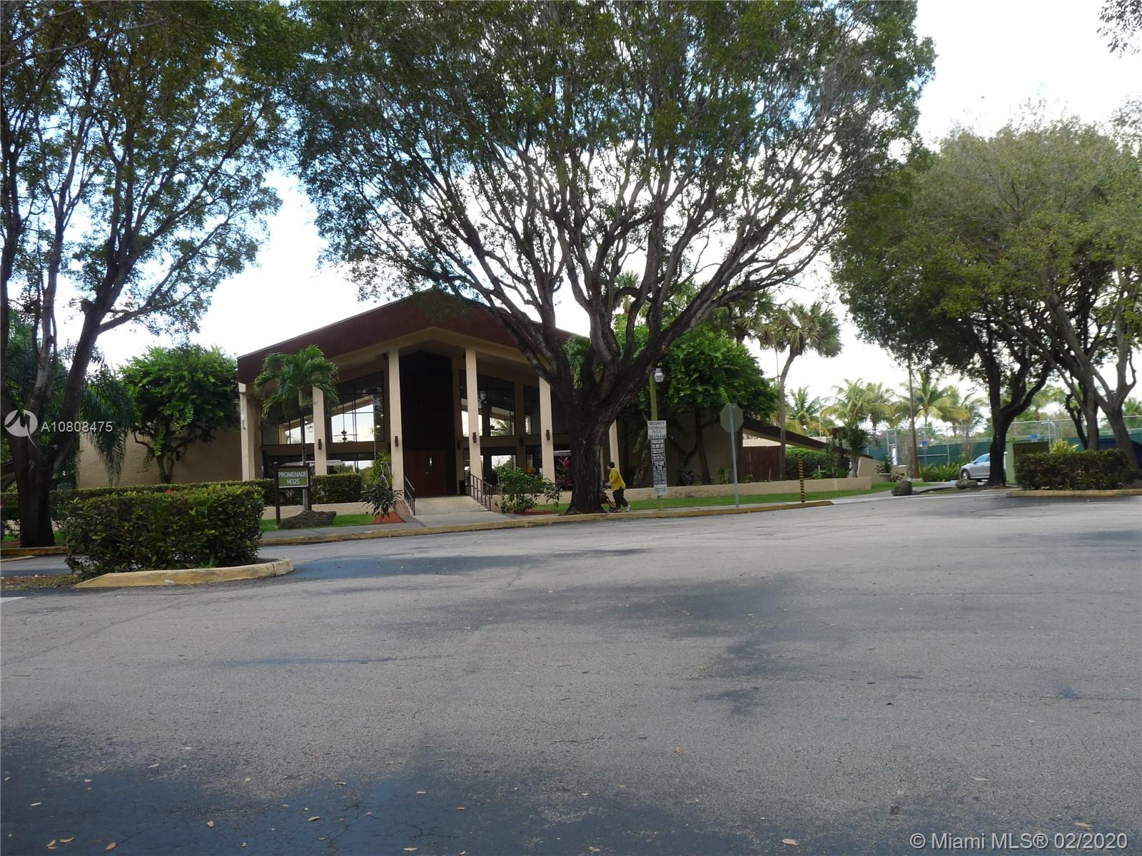 ONE OF THE BIGGEST UNIT 2/2 AT PROMENADE , CENTRALLY LOCATED , CLOSE TO RESTAURANTS, SCHOOLS, AND THE FL TURNPIKE. NICE SIZE ROOMS, EXCELLENT FLOOR PLAN. 2 DOORS ENTRANCE IS A PLUS.  GREAT FOR INVESTORS. BY APPOINTMENTS ONLY.. PROMENADE COMMUNITY HAS 2 POOLS, TENNIS COURTS, LAKE VIEW AND SECURITY PATROL. ASSOCIATION MEETS ONCE A MONTH , HOWEVER; RUSH APPLICATION IS AVAILABLE UPON REQUESTED.
