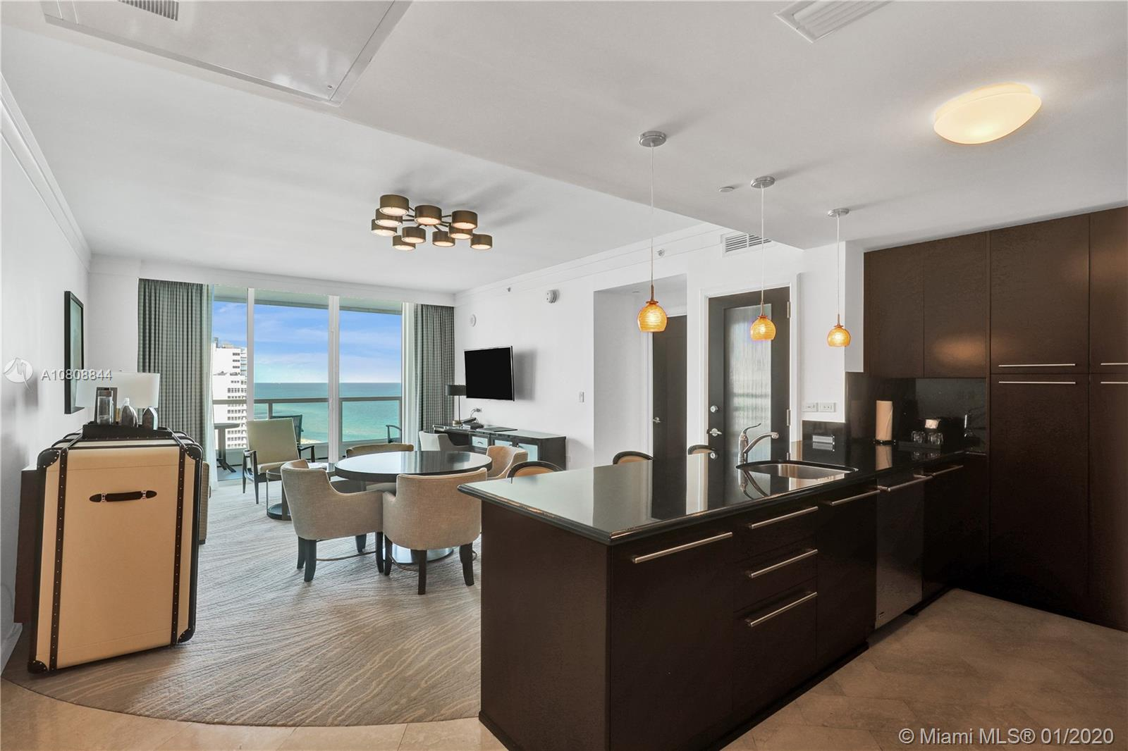 RECENTLY FULLY RENOVATED,BEAUTIFUL 1/1,5 BEDROOM AT WORLD FAMOUS FONTAINEBLEAU RESORT, OVERSIZED BALCONY OVERLOOKING TO THE OCEAN AND POOL.FULLY FURNISHED TUNKEY 2 FLAT TV'S,COMPUTER WITH DESK,SLEEPER SOFA,FULLY EQUIPPED KITCHEN, KITCHENWARE, DISHWASHER, WASHER&DRYER. FONTAINEBLEAU OFFERS 22 OCEANFRONT ACRES, MANY TOP RESTAURANTS AND NIGHTCLUBS, SPA, FITNESS CENTER.POOLS.MAINTENANCE FEES INCLUDED:AC,ELECTRICITY,FREE VALET,LOCAL PHONES AND COMPLIMENTARY BREAKFAST AT OWNERS LOUNGE. THERE WERE A LOT OF CELEBRITIES IN THIS LIST OF GUESTS WHO HAVE STAYED IN THIS SUITE BEFORE.DON'T MISS OUT THIS UNIQUE OPPORTUNITY TO PURCHASE ONE OF THE LAST EXCLUSIVE 1 BEDROOM SUITES IN FONTAINEBLEAU HOTEL MIAMI BEACH