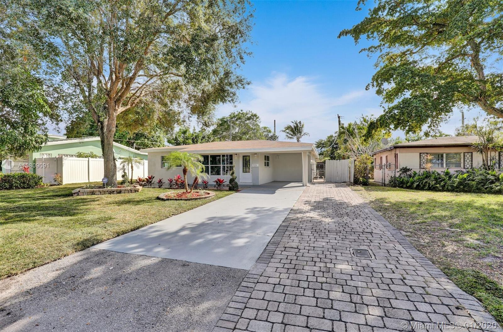 BEAUTIFULLY FULLY REMODELED 3/2 HOME IN THE HEART OF OAKLAND PARK! PERFECT TURN-KEY STARTER HOME OR VACATION RENTAL OPPORTUNITY! HOME FEATURES ALL HURRICANE IMPACT WINDOWS AND DOORS, 2019 SHINGLE ROOF, NEWER 2014 A/C UNIT, NEW BATHROOMS, SEPARATE LAUNDRY ROOM WITH SAMSUNG WASHER AND DRYER, NEW ELECTRIC TANK-LESS WATER HEATER, SPRINKLERS SYSTEM AND GRASS. NEW CUSTOM KITCHEN WITH HIGH END EUROPEAN CABINETS, QUARTZ COUNTERTOP AND BRAND NEW STAINLESS STEEL APPLIANCES, RECESSED LIGHTING THROUGHOUT, LARGE BACKYARD NICE FOR ENTERTAINMENT OR TO BUILD A POOL, VERY LARGE AND SPACIOUS DRIVEWAY, FRESHLY PAINTED INSIDE/OUT... MINUTES FROM SCHOOLS, BEACH, SHOPPING PLAZAS ETC.. HURRY THIS WONT LAST LONG!!