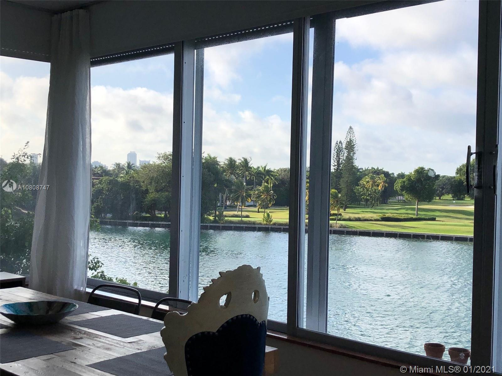 Breathtaking views of the golf court and spectacular sunsets!! Large 2-bedroom condo converted to 3 at the lowest price per sf in beautiful Bay Harbor Islands. 2,200 sf on the water with direct water views overlooking Indian Creek (with the most amazing sunsets)! Super low maintenance in a well-run boutique condominium. Two apartments per floor (8 in total) - and only one and a half blocks to Ruth K. Broad School - A rated public school. No rentals allowed - quiet and family oriented building. Call Mara for showings!