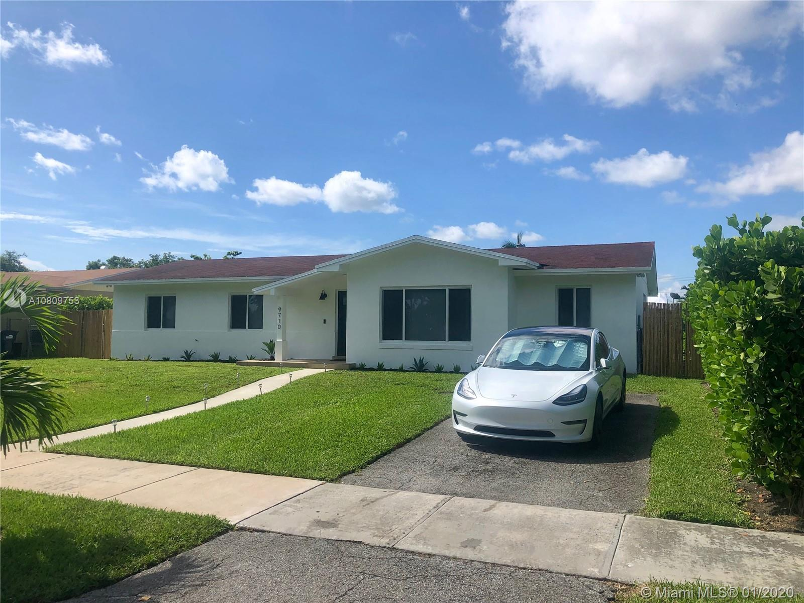 FOR RENT FULLY REMODELED SINGLE FAMILY HOME. Located in CUTLER BAY. Walking distance to shops, restaurants, park and schools, close to Old Cutler Road, Black Point Marina. 3 bedroom 2 bathroom, tile throughout, wood floors in bedrooms. Large yard, new kitchen with granite tops & stainless steel appliances. Full size washer/dryer included. Impact windows and doors. Plenty of parking space. No HOA. Unfurnished. Internet included. Minimum rental is 1 year. Pets under 20 pounds will be considered.
