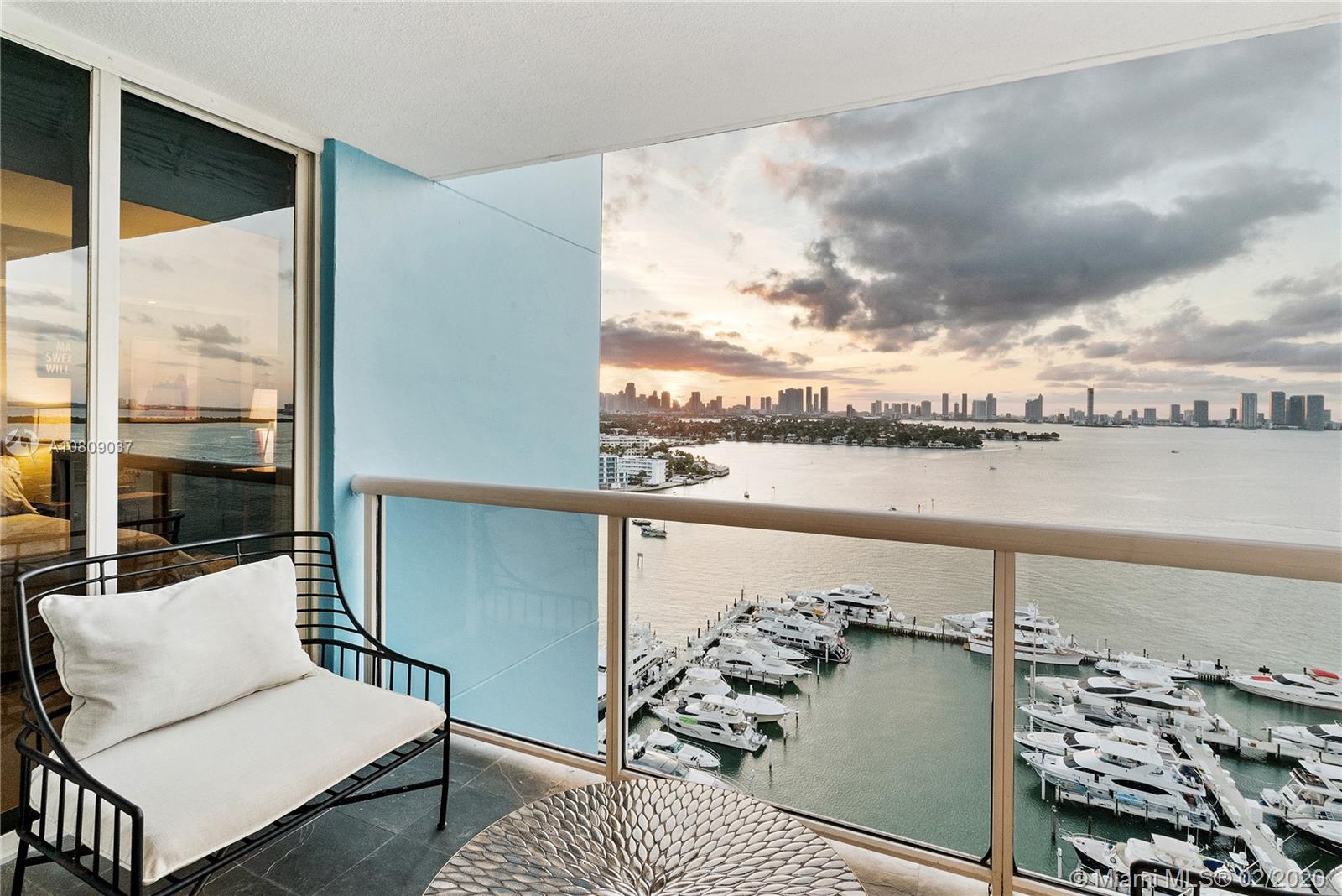 1800  Sunset Harbour Dr #1908 For Sale A10809037, FL
