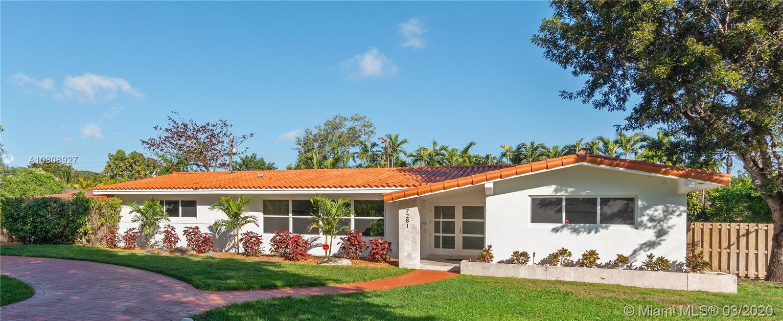 7281 SW 135 Terrace  For Sale A10808927, FL
