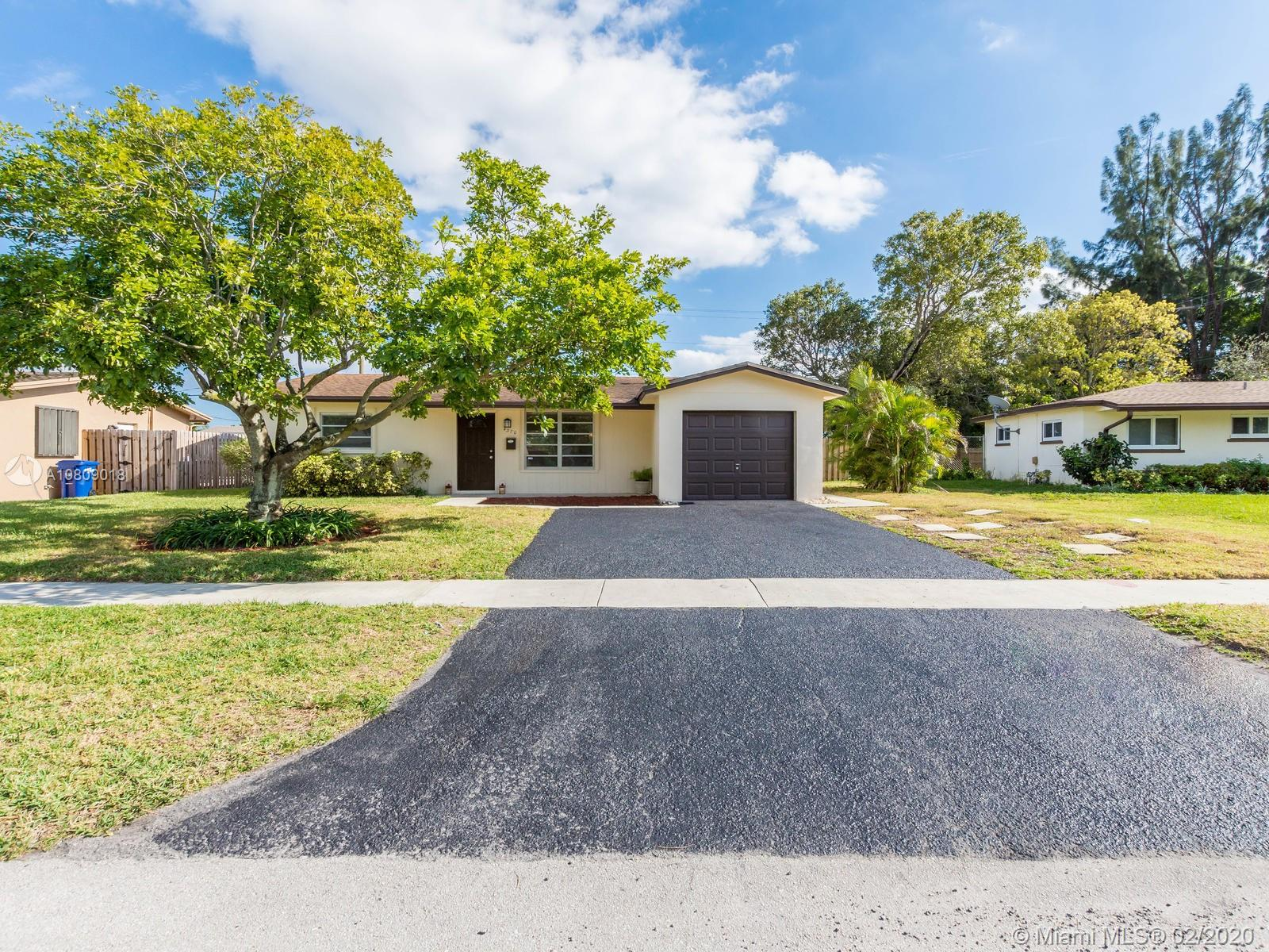 Beautifully and spacious remodeled home, large living area and formal dining welcomes you with views to the new modern kitchen with extra-large island, quarts counter-top, stainless steel appliances, soft closing cabinets with plenty of storage space, perfect for entertaining.Extra dining area next to kitchen opens to large screen porch ideal for entertainment and perfect for enjoying outdoor living.Two large bedrooms with plenty of closet space and beautifully remodeled bath. Large back yard for your enjoyment with room for a pool.Spacious garage with indoor laundry facilities for your convenience.Energy efficient recess lighting.Walking distance to Lauderhill Mall, Elementary School and Wolk park, minutes from Central Broward Park and Stadium,Performing Arts Center. This home has it all!
