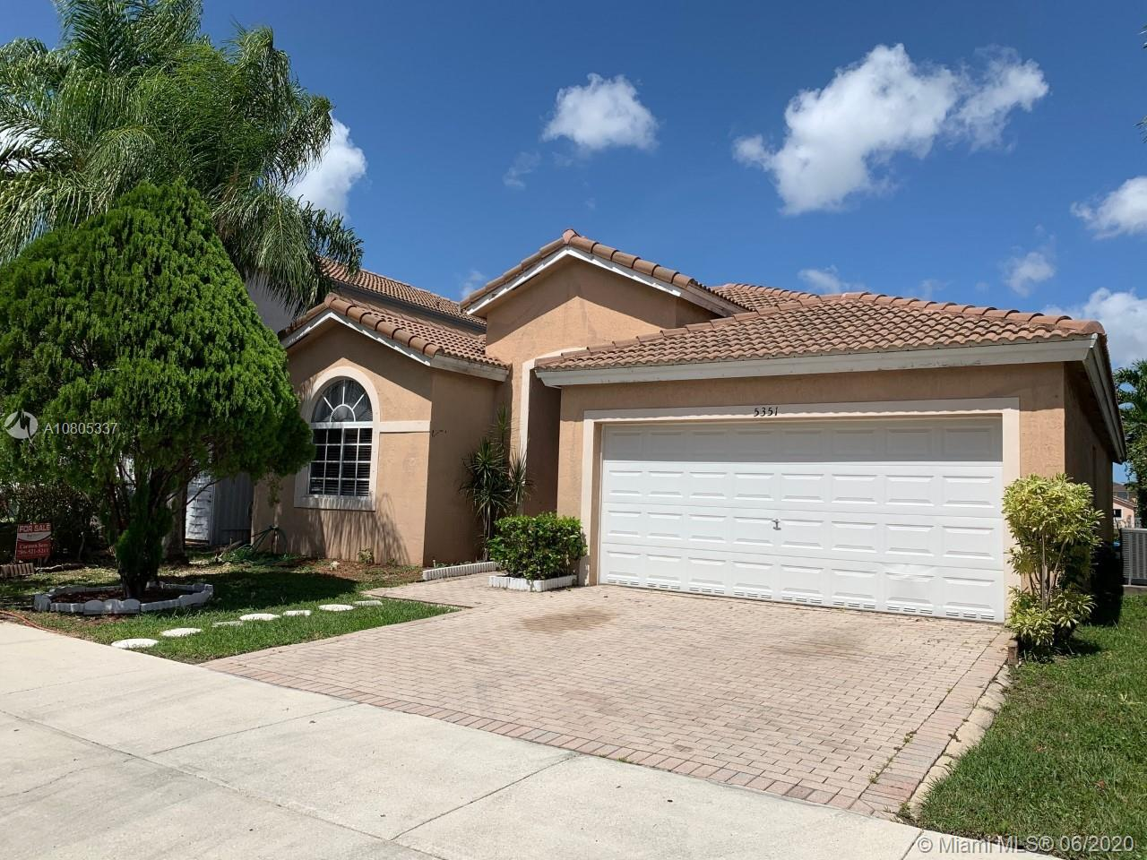5351 NW 110th Ave  For Sale A10805337, FL