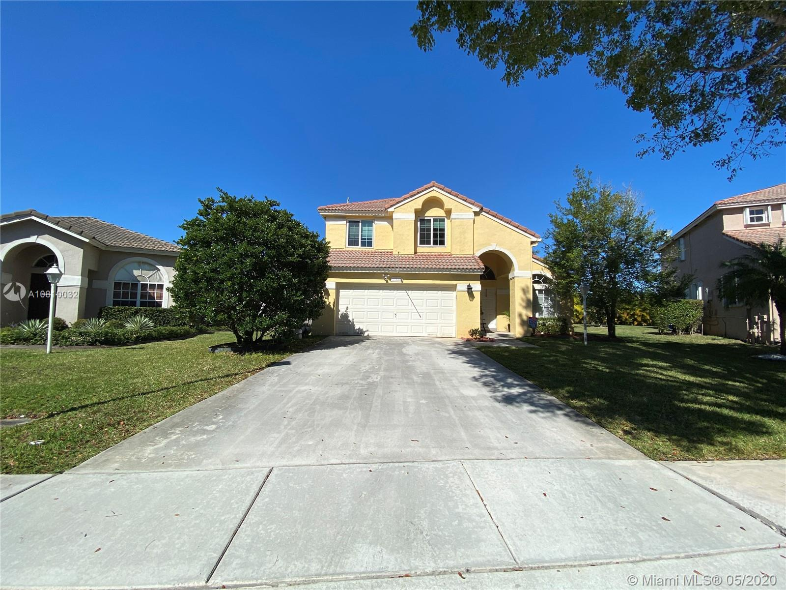 "Incredible and breathtaking must see 4 hab / 2.5 bath Single Family home, in desirable "" Pembroke Falls "" gated community, Surrounded by top rated schools, shopping Centers and park. Amazing oversize backyard for any ocasion, beautiful remodeled pool with the new salt system, Impact windows in the second floor. The association Fee includes : Internet Fiber High Speed 100 mb / sec , Hotwire communication cable, HBO and more.  Seller will be willing to provide secondary financing. In person showing still accepted"