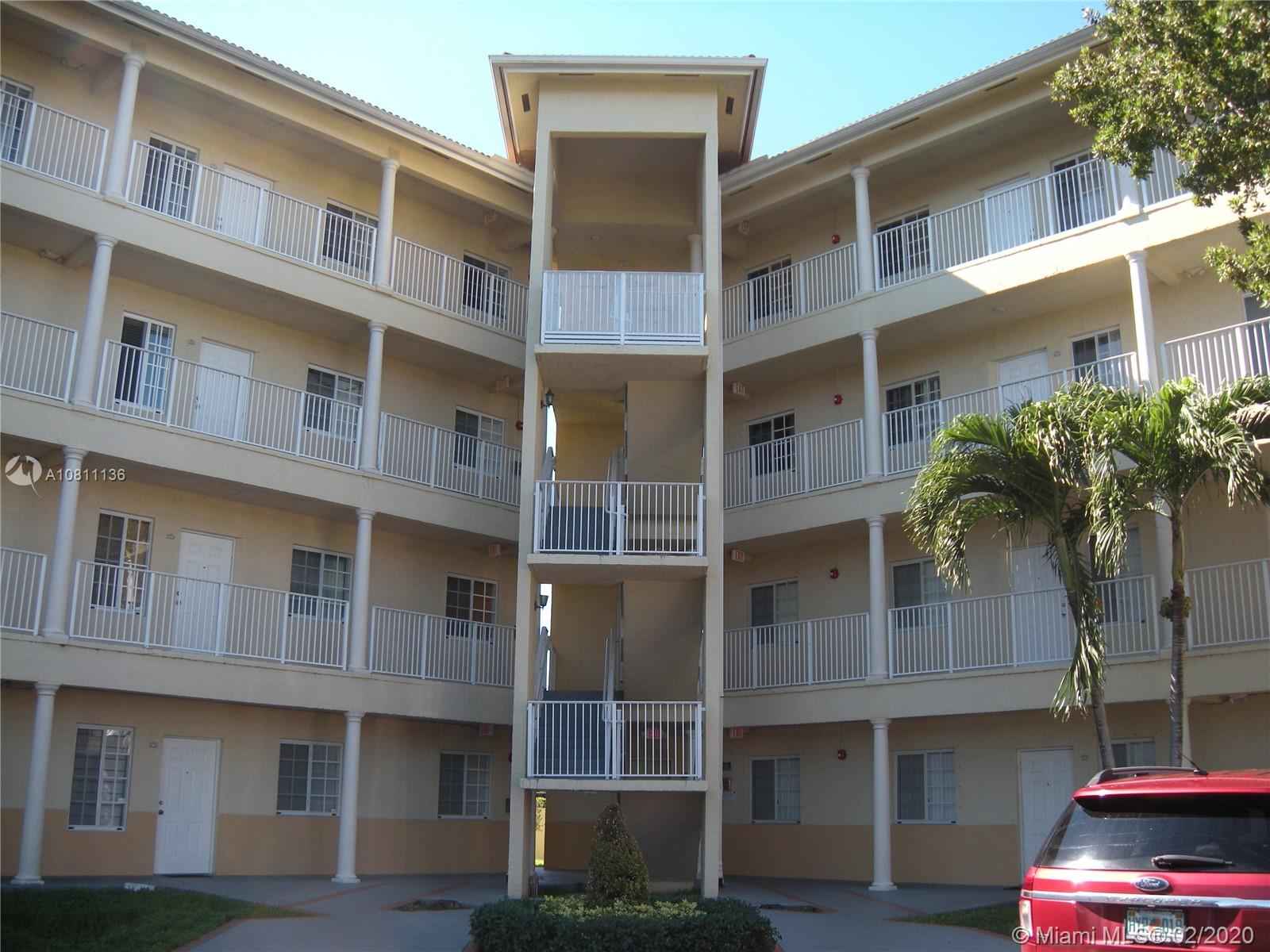 Elegant upper floor 3/2 condo located near the elevator in San Marco Villas in the Hialeah/Miami Lakes area in close proximity to I-75, Palmetto 826 and The Turnpike. Features include tiled floors, stackable washer/dryer, balcony, master bedroom with updated full bath and walk-in closet, crown moldings throughout, newer electric stainless steel appliances, nice light fixtures and paint job, dining area, very spacious with almost 1200 sq ft of living area, one assigned parking space and lots of guest parking, newer AC unit and more. No pets allowed, applicants are subject to association approval.