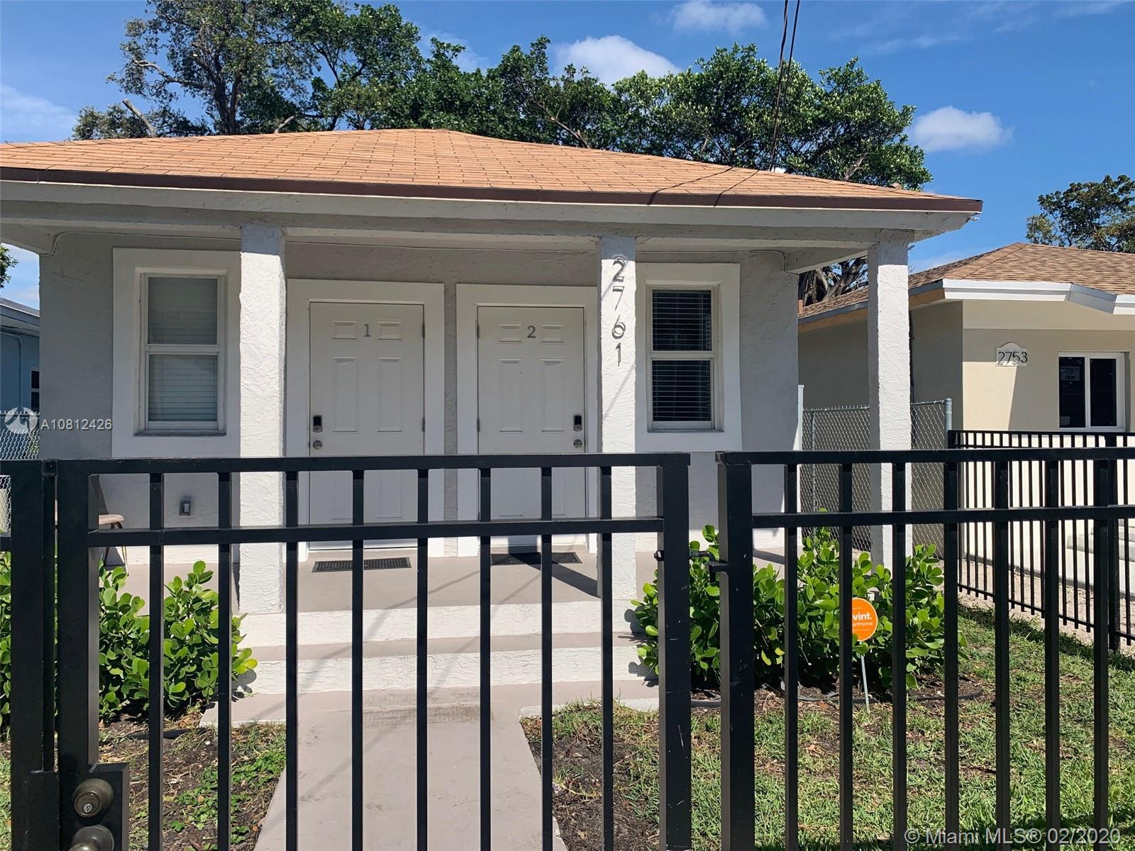 2761 NW 45th St #2 For Sale A10812426, FL