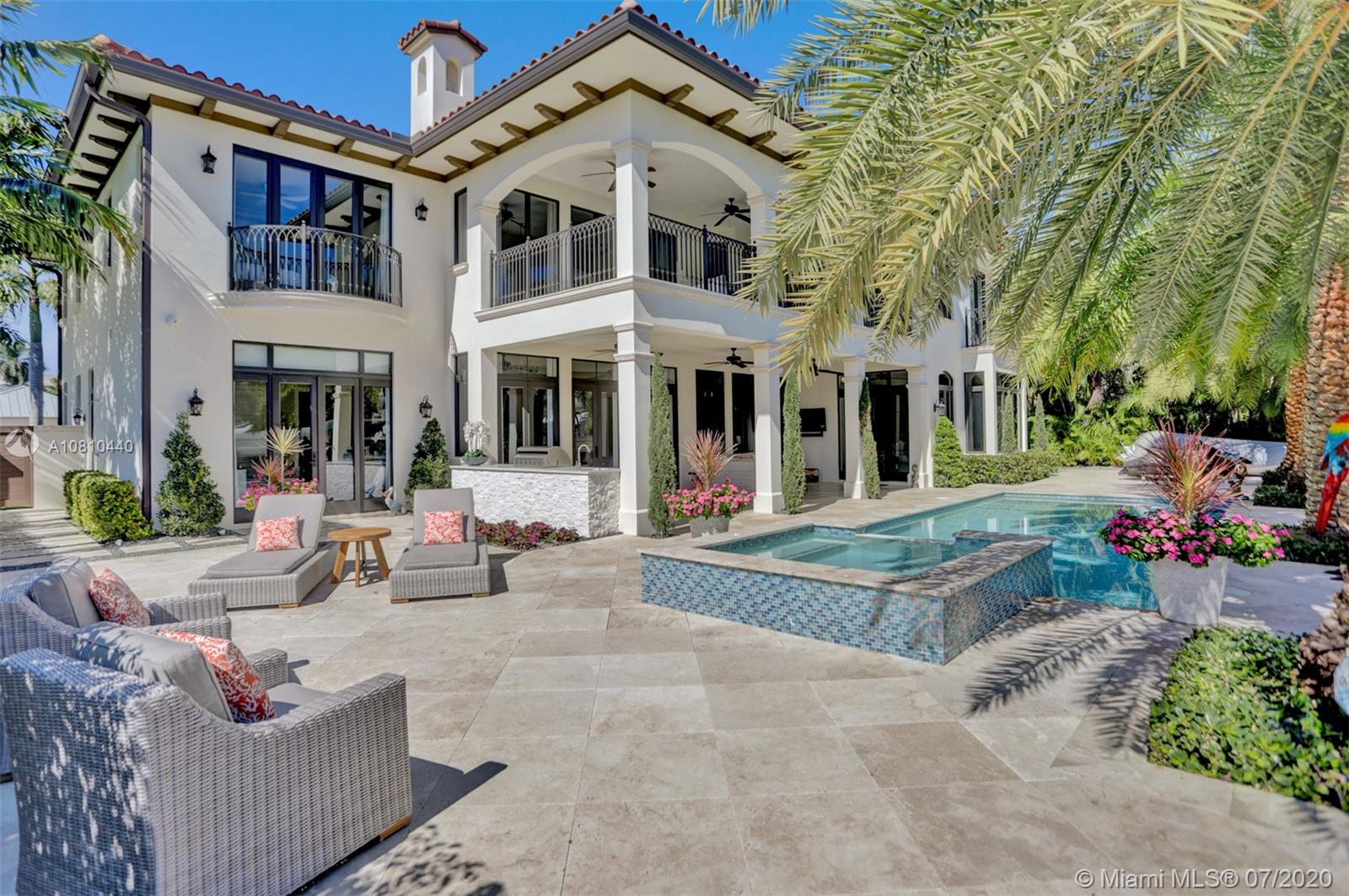 PRICED TO SELL! Fort Lauderdale's most prestigious waterfront neighborhoods of Nurmi Isles. New concrete dock and seawall with 95 feet of waterfront.  Breathtaking views of the Venetian inspired 120 foot wide deepwater canal from every room.Catch a workout in the fitness room, hit the outdoor shower or dip in the heated salt water pool.Gourmet kitchen featuring Thermadore appliances, gas range,double ovens, take it outside to your beautiful summer kitchen. Cozy up in the formal living room in front of the gas fireplace. Take the impressive curved stairway or elevator to the 2nd floor to your grand elegant master suite. Master bath fit for a king & queen with his & hers water closets, dual vanities & grand Walk In Closet, Yacht Also Avail.