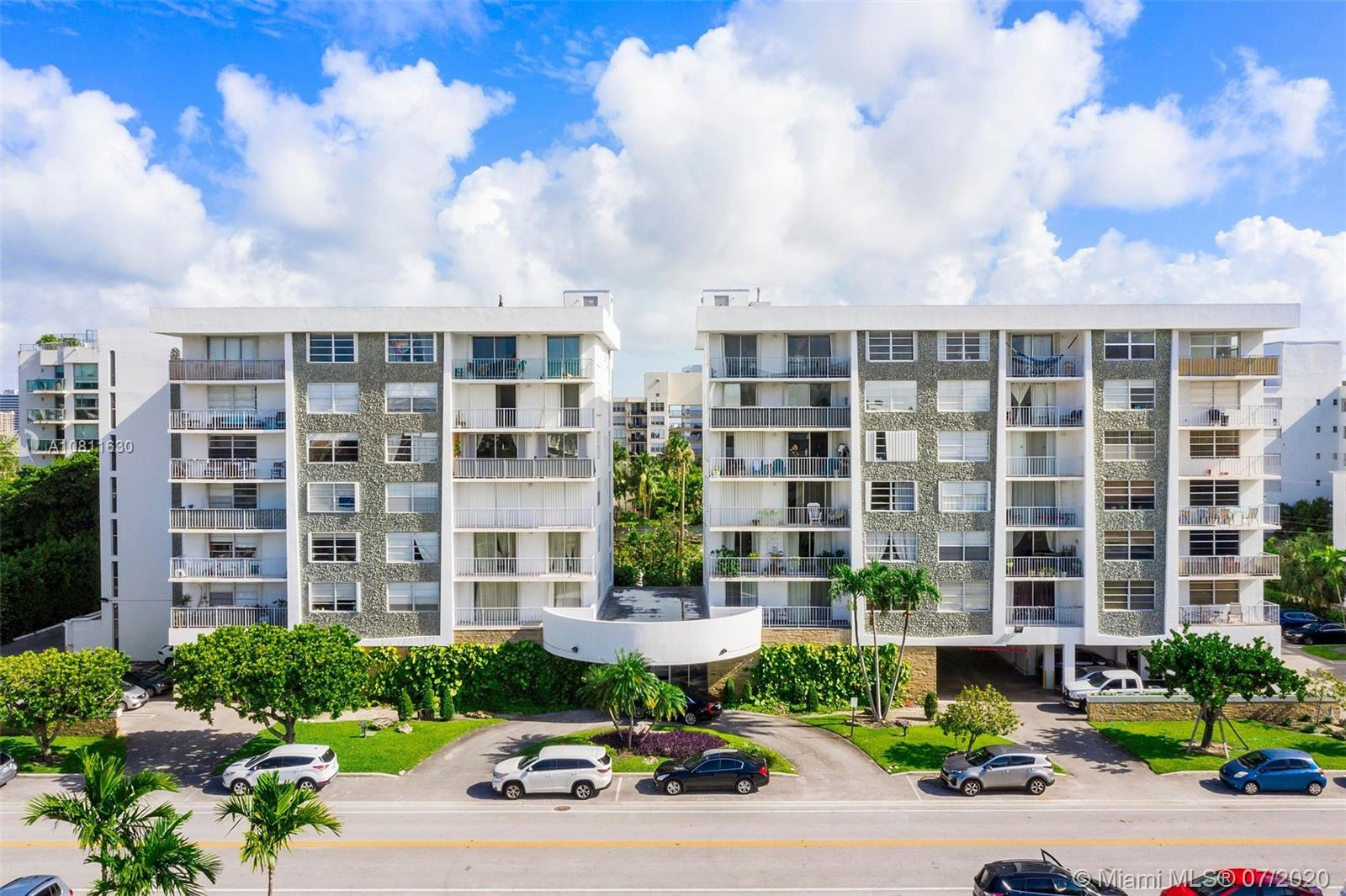 Beautiful two bedroom and two bathroom corner unit. Located in the prestigious Bay Harbor Island. Walking distances to the beach,  A+ school and   Bal Harbour Shops.  Unit offers  eat in kitchen,marble floors,  balcony and nice garden views. Beutiful and spacious condo in an excellent location!