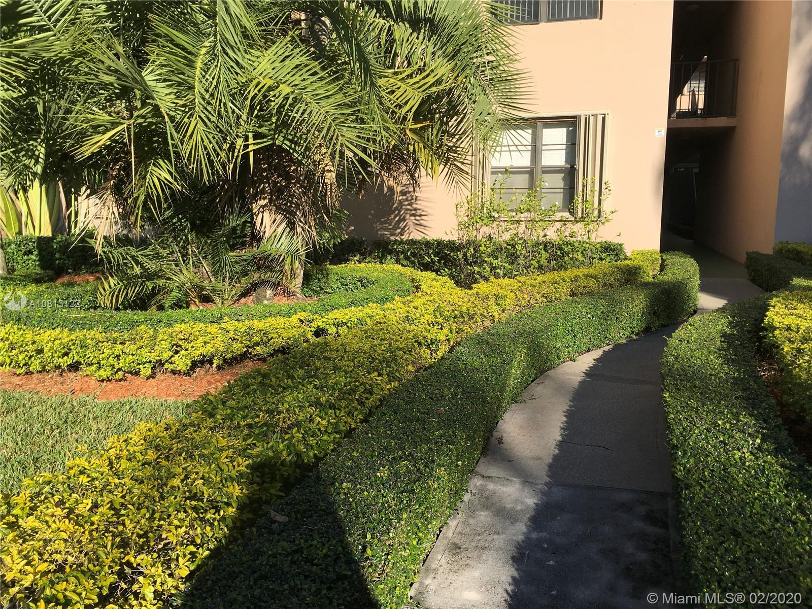 Nice first floor condo,  owner unit with access to parking lot, garden view, large terrace with storage, large bedrooms both with walking closets, all tiled floors, pets well On my way!, fast approval, tenant occupy but easy showings with notice. Perfect location with easy access to expressways, Miami Dade College across the street.