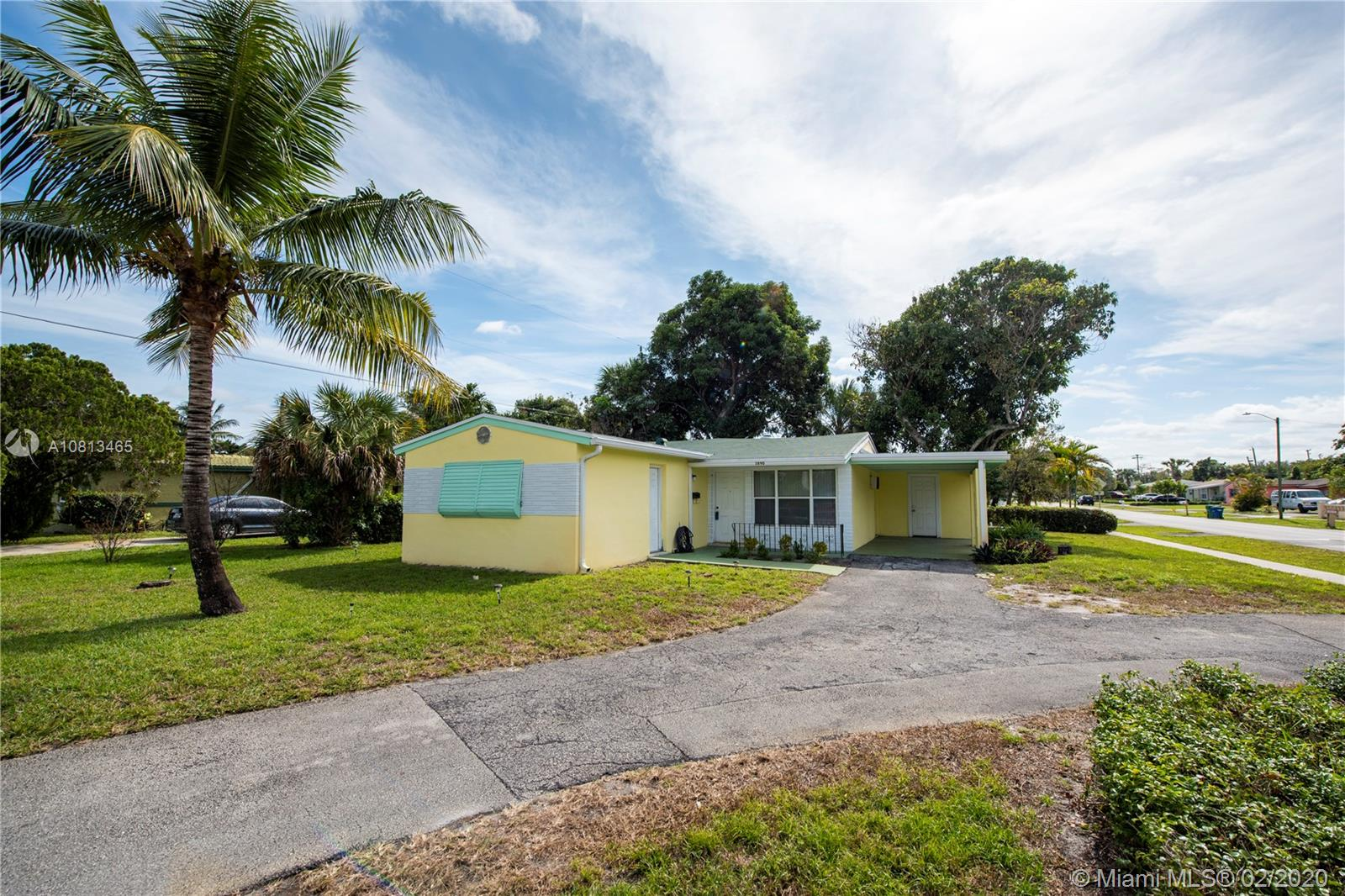 Come experience this 3 bedrooms, 2 bathrooms corner lot single family home with car port before it's too late. Roof was replaced about 2 years ago. Newer windows. Exterior was recently painted. large patio space. Laundry room at the end of the carport. Large mango trees in the back yard. This property has so much potential; all that's missing is a new family to make it their own.