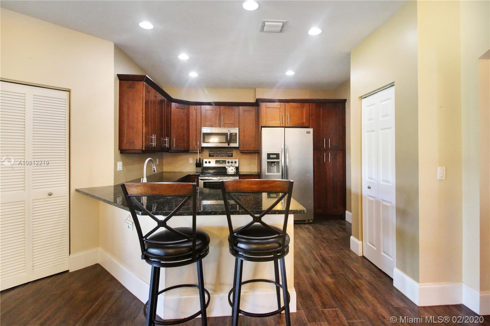 Fully remodeled single story, split floor plan townhome in popular Waterways! This home boasts an AC replaced in 2016, new water heater, freshly painted exterior and brand new roof. Main living area has beautiful 'wood' tile with open kitchen concept featuring granite counter tops, stainless steel appliances and wood Shaker cabinets. HOA includes cable tv, roof, exterior insurance, lawn maintenance, wifi, trash, community pool and 24 hour manned gate.  This community is all ages and FHA and VA approved! Best of all, dogs welcome!