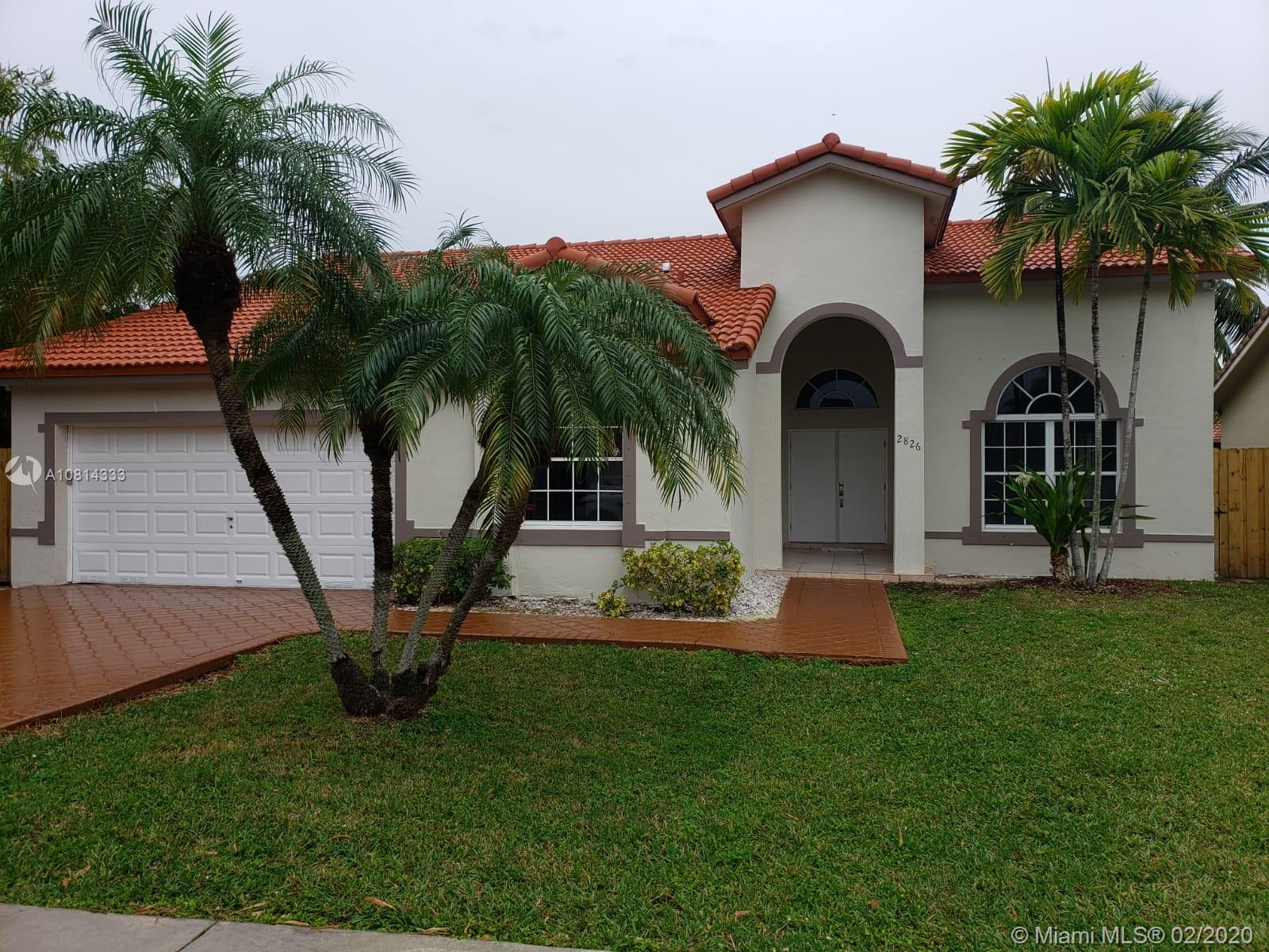 2826 SW 143rd Ct  For Sale A10814333, FL