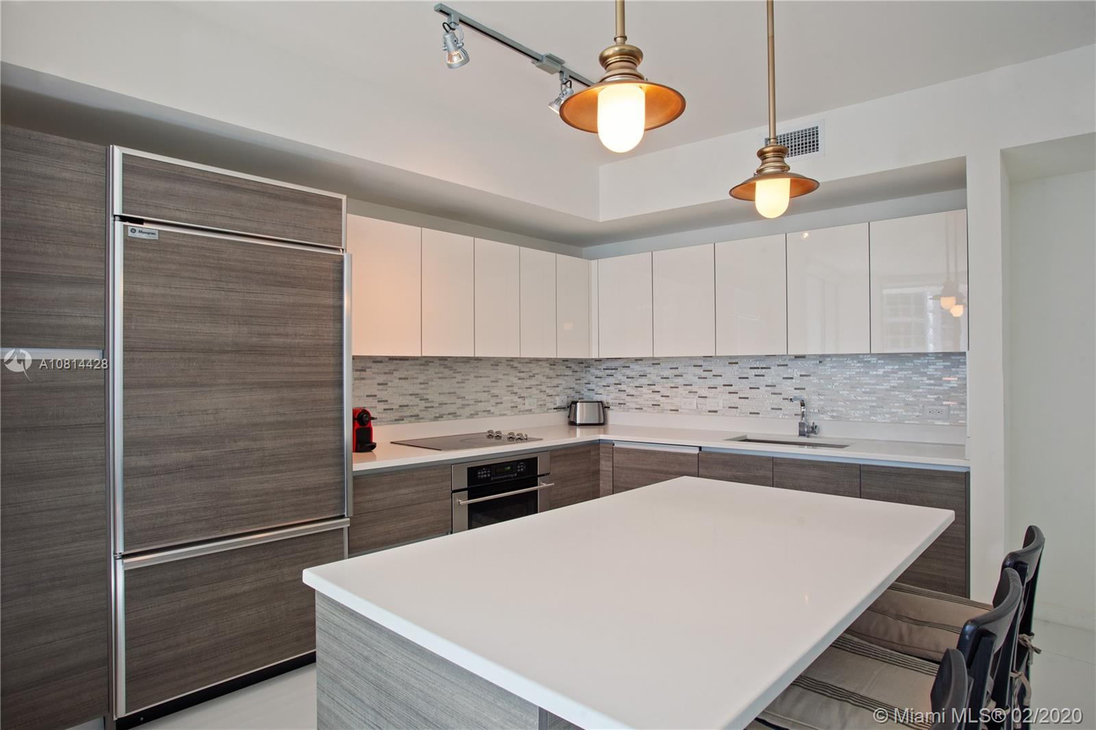 Spacious 2 beds 2 baths corner unit. Wraparound balcony w/ water and city views. White porcelain floors throughout, window treatments. Unit comes with 1 storage room. Luxe amenities, including a rooftop pool and sundeck (located on the 42nd floor); state-of-the-art fitness center; club room with bar and lounge, billiards table, catering kitchen, and multimedia facilities; health spa with men's and women's steam room and sauna; theater with state-of-the-art audio/visual equipment; private cabanas; 24-hour concierge and security; and 24-hour valet parking. Tenant occupied until 6/14/2021