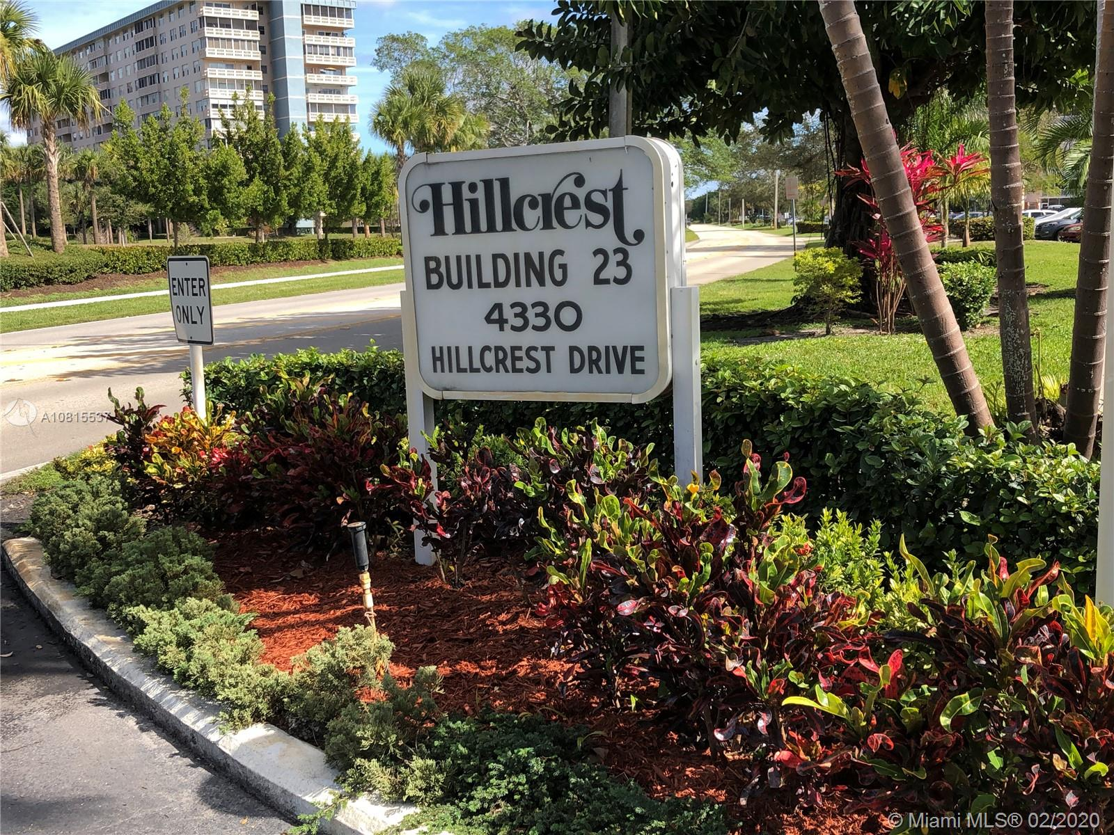 4330  Hillcrest Dr #603 For Sale A10815537, FL