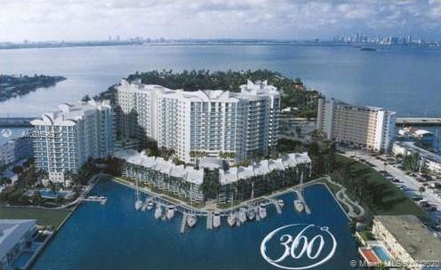 Water views from totally renovated unit at the desirable 360 Condominium. Floor to ceiling glass doors and windows overlooking the bay and Downtown Miami. Gated complex with guard gate and 24 hours security, 2 pools, fitness center, clubhouse, carwash, valet and more. Water, basic cable, internet, and building insurance included in the HOA fees.