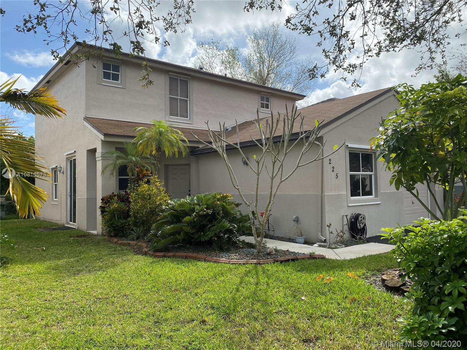 "Back on the market! Price reduction! Chapel Trails! Pembroke Pines! Beautiful, large, comfortable single family home with garage. It consists of four bedrooms, one on the first floor and three on second floor. With three full bathrooms. All brand new stainless steel appliances adorn this home's bright kitchen. Huge master bedroom with walk in closet.  Home has security system and all wired for surround sound. Displays a beautiful Yard with butterfly trees and many colorful butterflies.  Kids parks and community pool close by. Low association fee that covers cable, maintenance of your front lawn with sprinkler system etc. Excellent family oriented community with all, ""A"" schools close by. Bring your buyers to this affordable lovely home. Easy to show, easy to love! HOUSE IS VACANT!"