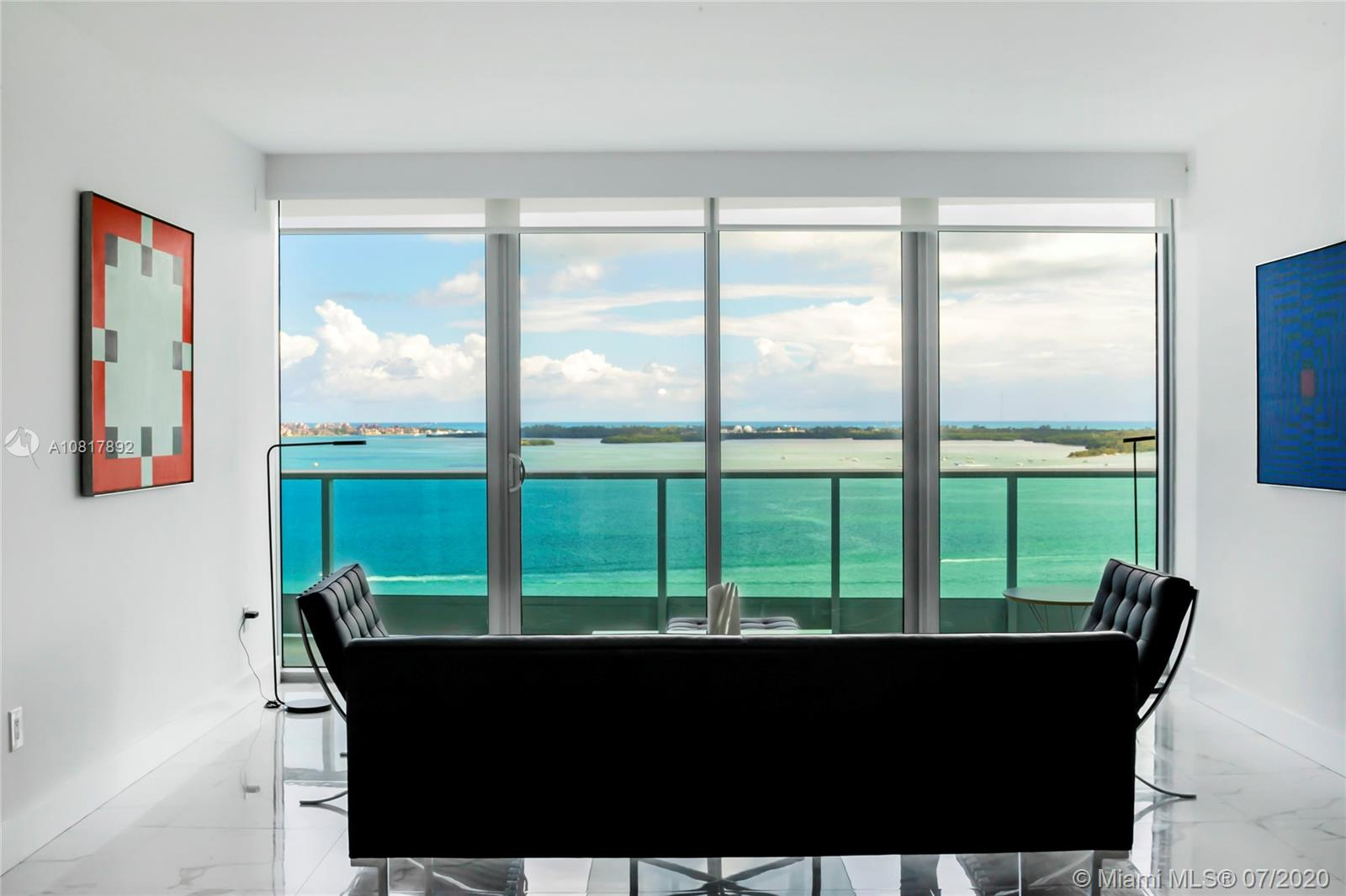 PARADISE AT JADE RESIDENCES. THIS LUXURIOUS 2 BEDROOM + DEN, 3 FULL BATHROOMS. 1 PARKING SPACE AND 1 STORAGE UNIT. DREAM APARTMENT OVER 1,730 SQ.FT COMPLETELY REMODELED. MAGNIFICENT SKYLINE WATERFRONT RESIDENCE GRACED BY FLOOR TO CEILING HEIGHT IMPACT WINDOWS WITH WATER VIEW FROM EVERY ROOM, ACCOMPANIED BY AN ELEGANT FORMAL DINING AND LIVING ROOM, TREMENDOUS CHEF'S KITCHEN. THE DIVINE MASTER SUITE WITH OVER LOOKING TO THE WATER  AN A SOAKING TUB AND SEPARATE GLASS SHOWER. PRIVATE ELEVATOR TO YOUR FOYER ENTRY. ENJOY THE LUXURY AMENITIES LIKE INFINITY WATER FRONT POOL & CABANAS, SPA, JACUZZI, GYM, ROOFTOP PARTY ROOM & OTHER EXCLUSIVE SERVICES. GO TO VIRTUAL TOUR TO SEE THE UNIT VIDEO!!!