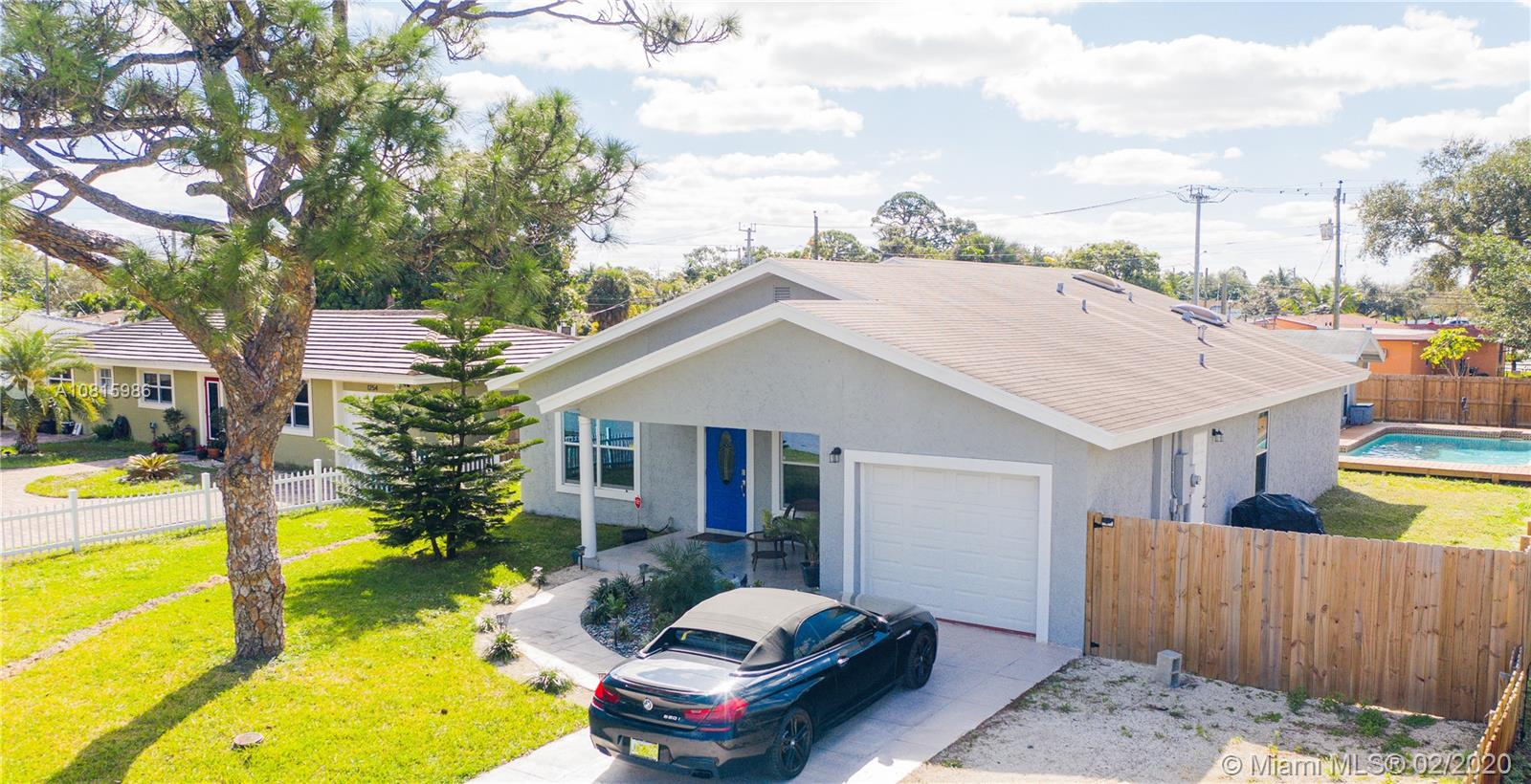 Beautiful  home in the growing community of Oakland Park. The house is updated with modern finishes. Master bedroom features a large walk-in closet and his/her closet space.  Enjoy the pool with a surrounding wooden deck.  A guest house with it's own electric box that can be easily converted into a 4th bedroom/bath guest suite.  Large lot of 10,000 SQFt with plenty of space for entertainment. Less than 5 miles to Fort Lauderdale International airport and Fort Lauderdale Beach.  There are two exciting new development copy and paste link below to learn more
