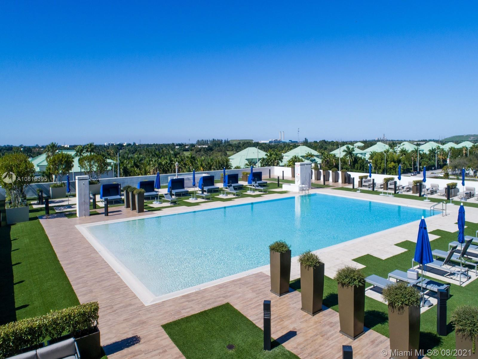 High rise luxury Penthouse 2 bedrooms 2 bathrooms in the heart of Downtown Doral, panoramic view of the city, modern kitchen with quartz counter tops, stainless steel appliances, porcelain floors, impact windows and doors, blinds, 2 assigned parking spaces, valet parking, storage room, 24 hours security, attendance lobby, great amenities; infinity pool, sauna, massage room, exercise room, children play room, business meeting room, entertainment room with a pool table. Walking distance to fine restaurants, shops, Publix and A+ schools. Close to Mayor Highways, Miami International Airport and the Beach. Water, basic cable and basic internet is included in the association fees