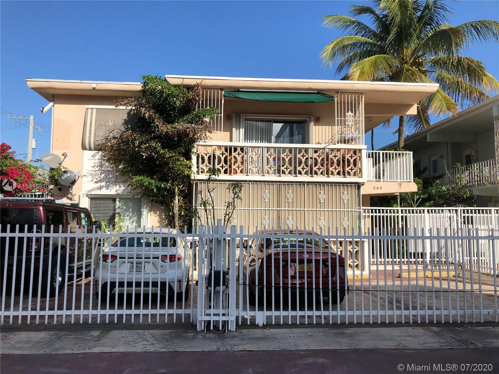 549  Meridian Ave #8 For Sale A10815910, FL