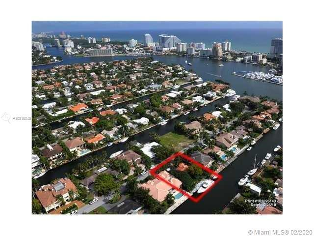 Great opportunity to build your dream home on 80 feet of deep water.  Dock and Seawall done in 2012. Live the Las Olas lifestyle, Only minutes from beaches, shopping, inlet.     Structure has roof 2013, newer kitchen and baths 2015.  Gas stove, laundry room w/ large pantry or expanded kitchen. 1 car garage.   Nice open floor plan with lots of light in the Florida room, great entertaining space.    Flooring needs to be reinforced and replaced and other tlc needed if you would like to lease it out or reside in it, see inspection reports.