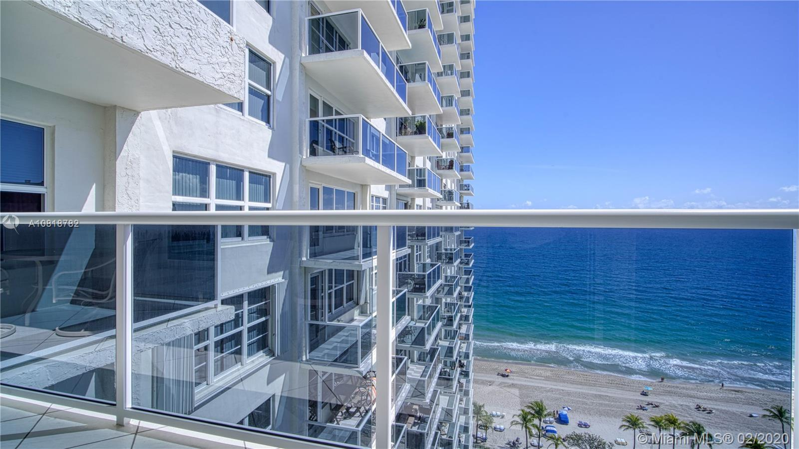 Spectacular 2/2  & 1/2  Condo in the desirable  Playa Del Sol, with direct ocean views from every room, totally updated, Impact Windows, porcelain floors, granite counter tops,  stainless steel appliances, laundry room with a full size washer and dryer.  Walk in closets. Split bedrooms.  Lovely balcony to enjoy the ocean breeze and the sunset. One covered garage space , plus a guess spot .  Stunning lobby , direct beach access, cabanas , heated pool, 2 fitness room. 24 hours security.  Great location right on Galt Mile. Near shopping, restaurants  and more .  It can be rented after one year.