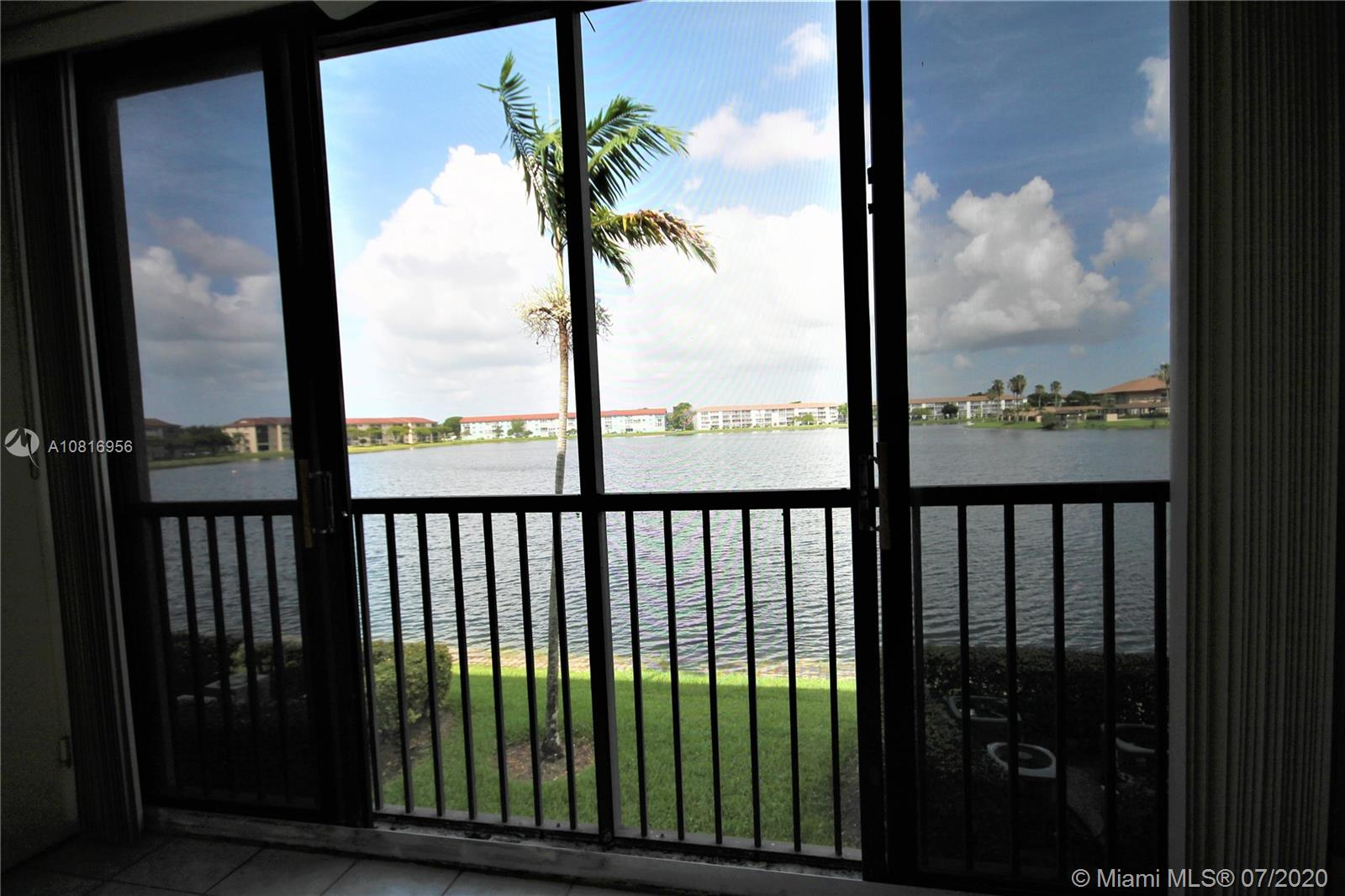 LAKEFRONT CENTURY VILLAGE CONDO WITH A BEAUTIFUL VIEW, VERY SPACIOUS LIVING AND DINING ROOM. 1 LARGE BEDROOM, 1.5 BATHROOM, MINT CONDITION, CENTRAL  A/C, WATER HEATER, WASHER/DRYER IN UNIT. FULL CLUB HOUSE FACILITIES, INC, GOLF COURSES, BUSES ARE AVAILABLE TO TAKE YOU SHOPPING AND TO  GREAT RESTAURANTS, WALK TO SPARKLING POOL, ALSO INDOOR POOL, WERE THE AEROBIC CLASSES TAKE PLACE. GREAT FITNESS CENTER, ELEVATOR FOR YOUR CONVENIENCE. PLAY CARDS, WATCH MOST REASON MOVIES. MEET NEW FRIENDS. CALL OR TEXT AGENT FOR APPOINTMENT.