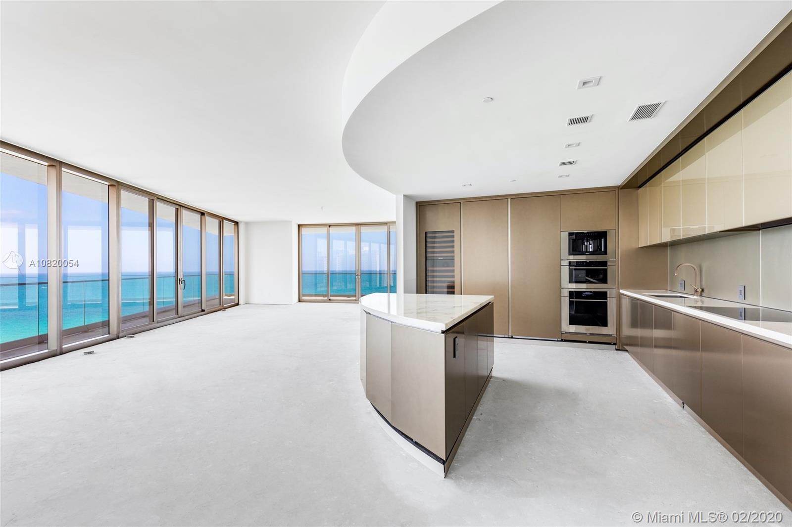 Legendary designer Giorgio Armani brings his inimitable sensibility & talent for understated elegance to Sunny Isles Beach with Residences by Armani Casa. Residence 700, the largest corner layout (4bed/5.5 bath + Service), is the only line with a private foyer. The interior living space is spacious, modern & elegant with 10 Ft ceilings offering incomparable views of the Atlantic Ocean. Expansive 10 foot-deep balconies with summer kitchen create a seamless expansion of living space into the fresh air. Sleek European kitchen. Smart residence w/digital thermostat. Impeccable master suite with midnight bar, his & hers baths with breathtaking ocean view.  Armani Casa residents can indulge in beach service, full service spa, private restaurant, game room, cigar/wine room, & child's play room.