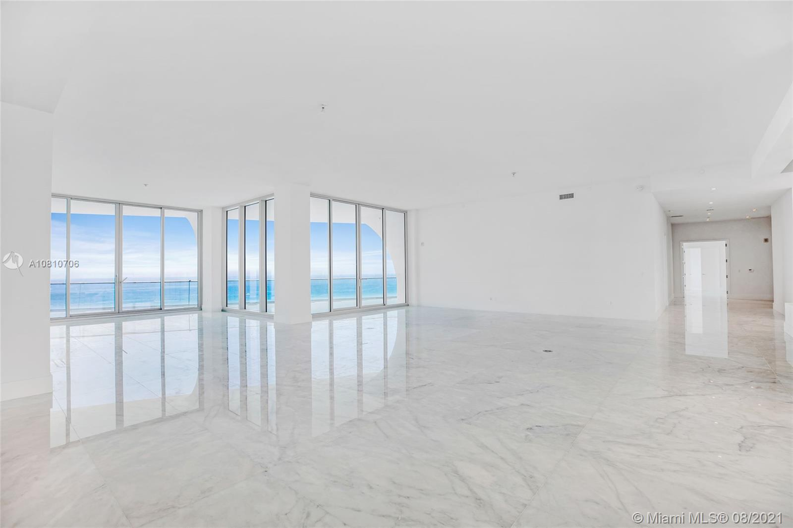 ONCE IN A LIFETIME OPPORTUNITY: HUGE PRICE REDUCTION ! OVER $12M DISCOUNT ( ORIGINAL PRICE $32M ): PRICED TO SELL ( NOW BELOW APPRAISAL VALUE )  Walls spanning from east to west provide living spaces that offer simultaneous views of both spectacular horizons from ocean to Intracoastal waterway. This Penthouse provides a true flow-through layout designed by the french 'master of grande luxe', Pierre-Yves Rochon.   Ultra high end Marble floors throughout the entire unit.     IMPORTANT UPDATE: The correct Square Footage of this Property is 14,425 sqft of Total Area ( 9,183 sqft Interior and 5,242 sqft of the exterior area )