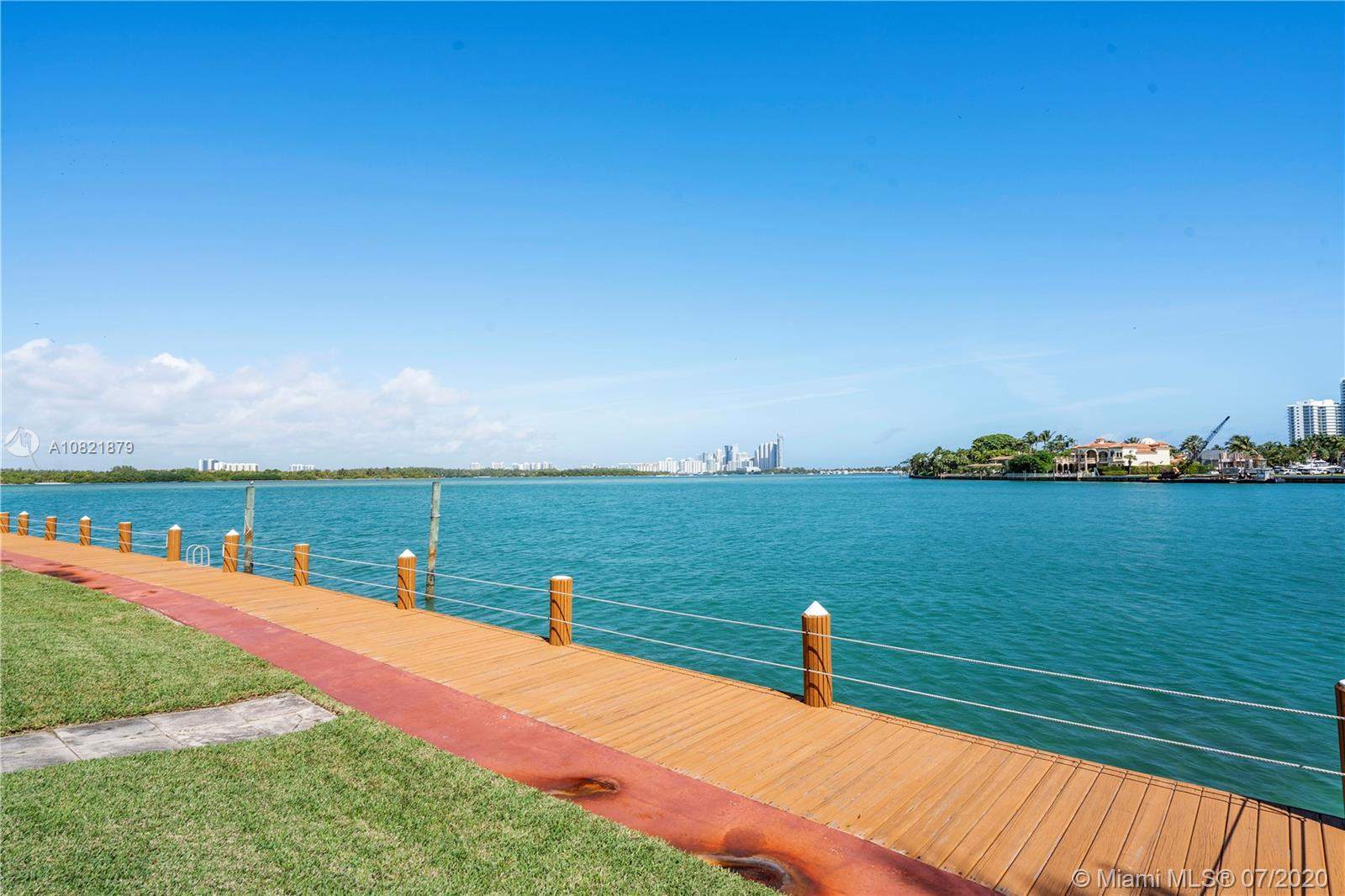 Updated 1 Bedroom 1 Bathroom in boutique style building with waterfront pool, deck and gardens. Unit is located on the 2nd floor of the building. Unit has updated kitchen with brand new appliances. Views of Biscayne Bay. Lots of cabinet space. New wall AC units. Walking Distance to Bal Harbour Shops, A+ Schools, Restaurants and Beaches. No Boats on Deck per Association. Laundry on premises. Cats allowed, No Dogs. Unit is currently rented for $1,350 per month through April 1st, 2021.